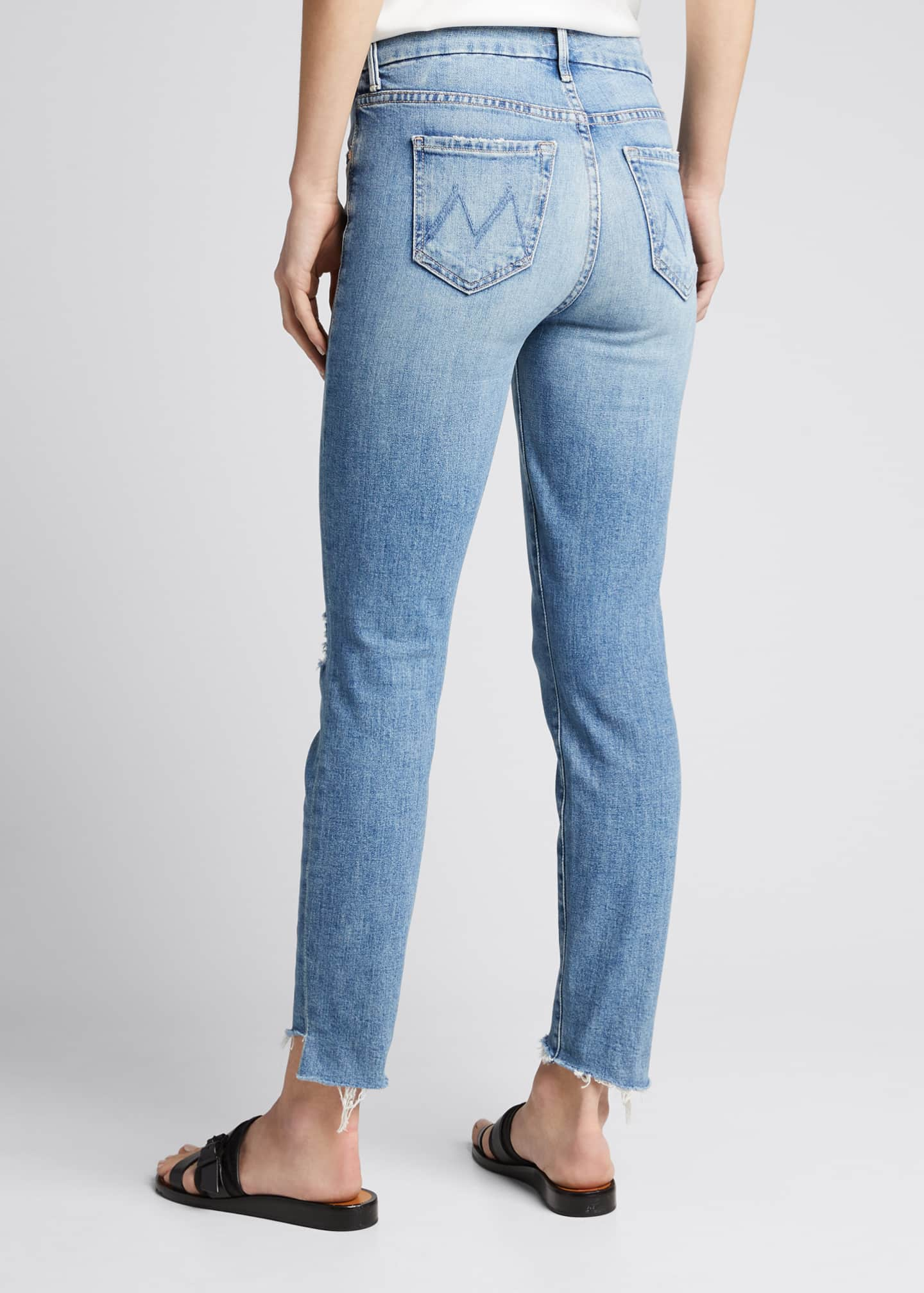 Image 2 of 5: The Looker Frayed Step-Hem Ankle Jeans