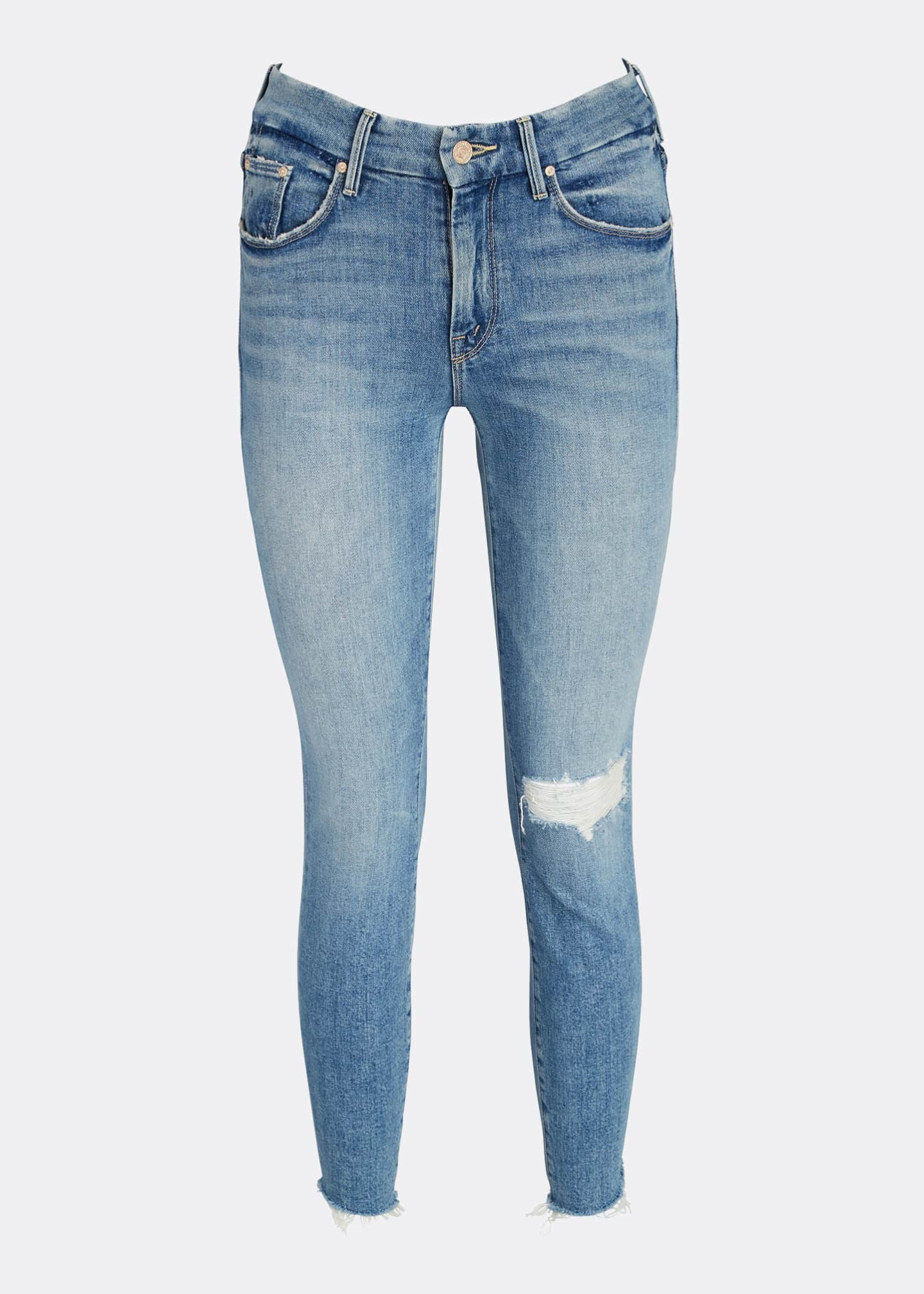 Image 5 of 5: The Looker Frayed Step-Hem Ankle Jeans
