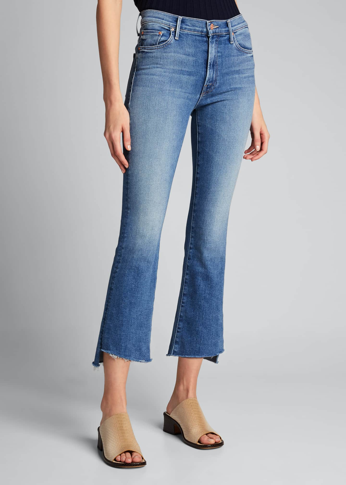 Image 3 of 5: The Insider Crop Step Fray Jeans