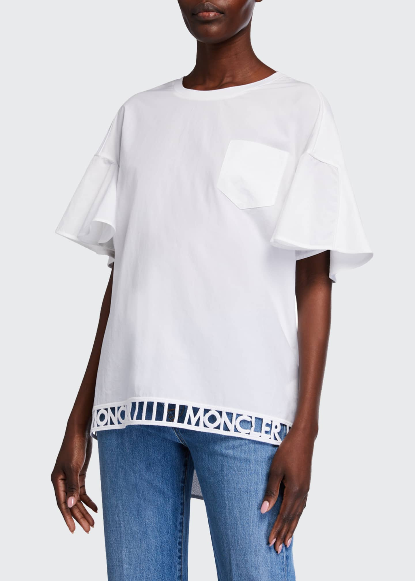 Cutout-Logo Trim T-Shirt