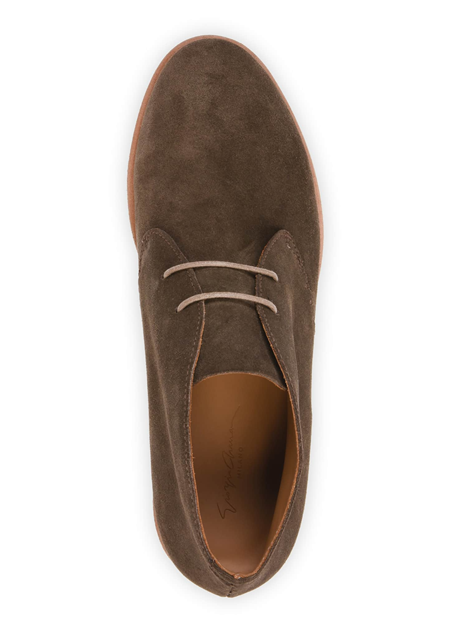Image 2 of 4: Men's Lightweight Suede Chukka Boots