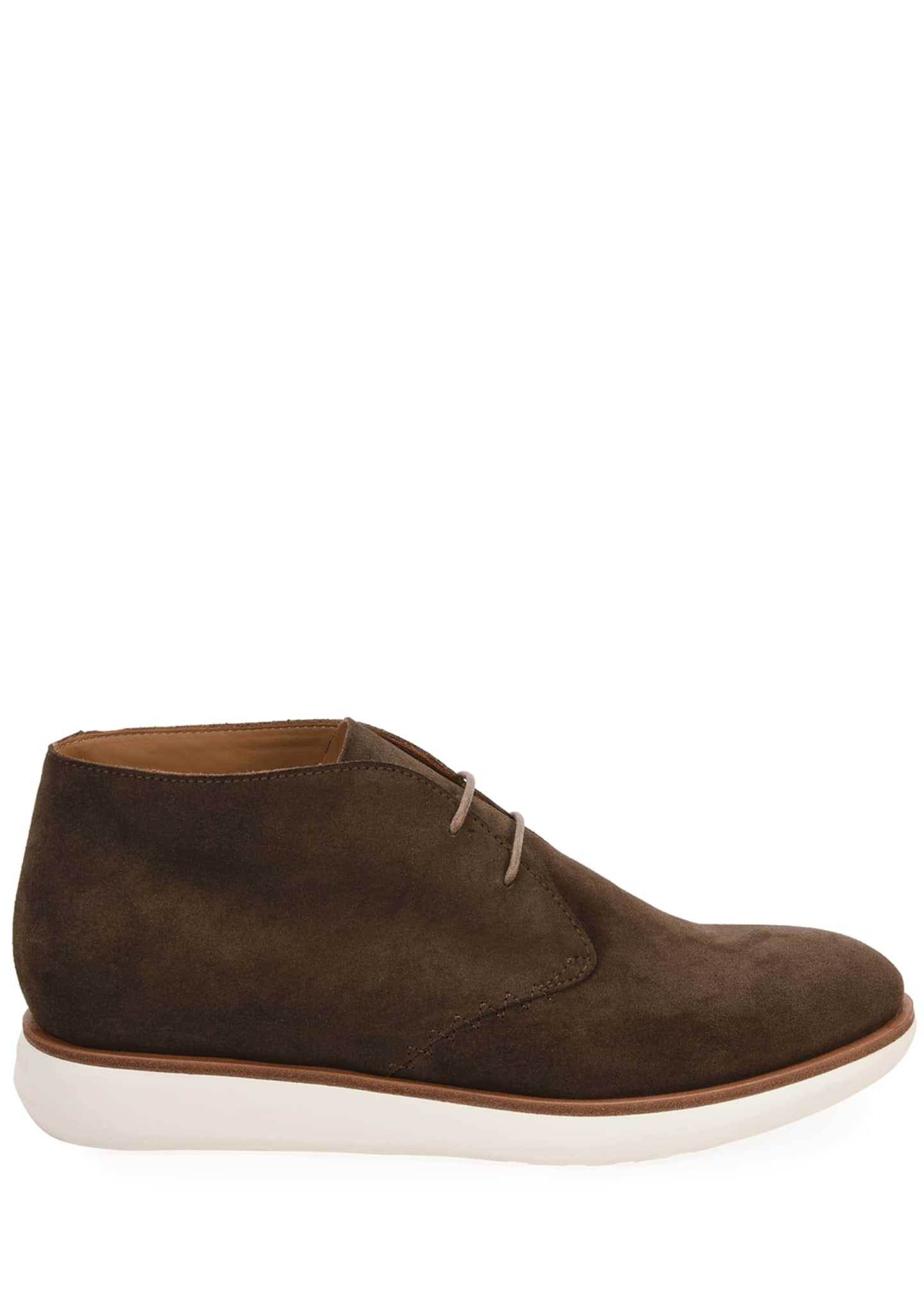 Image 3 of 4: Men's Lightweight Suede Chukka Boots