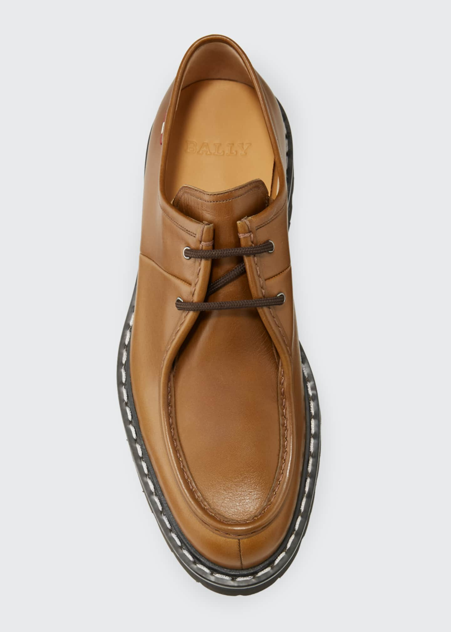 Image 2 of 4: Men's Lug-Sole Leather Derby Shoes