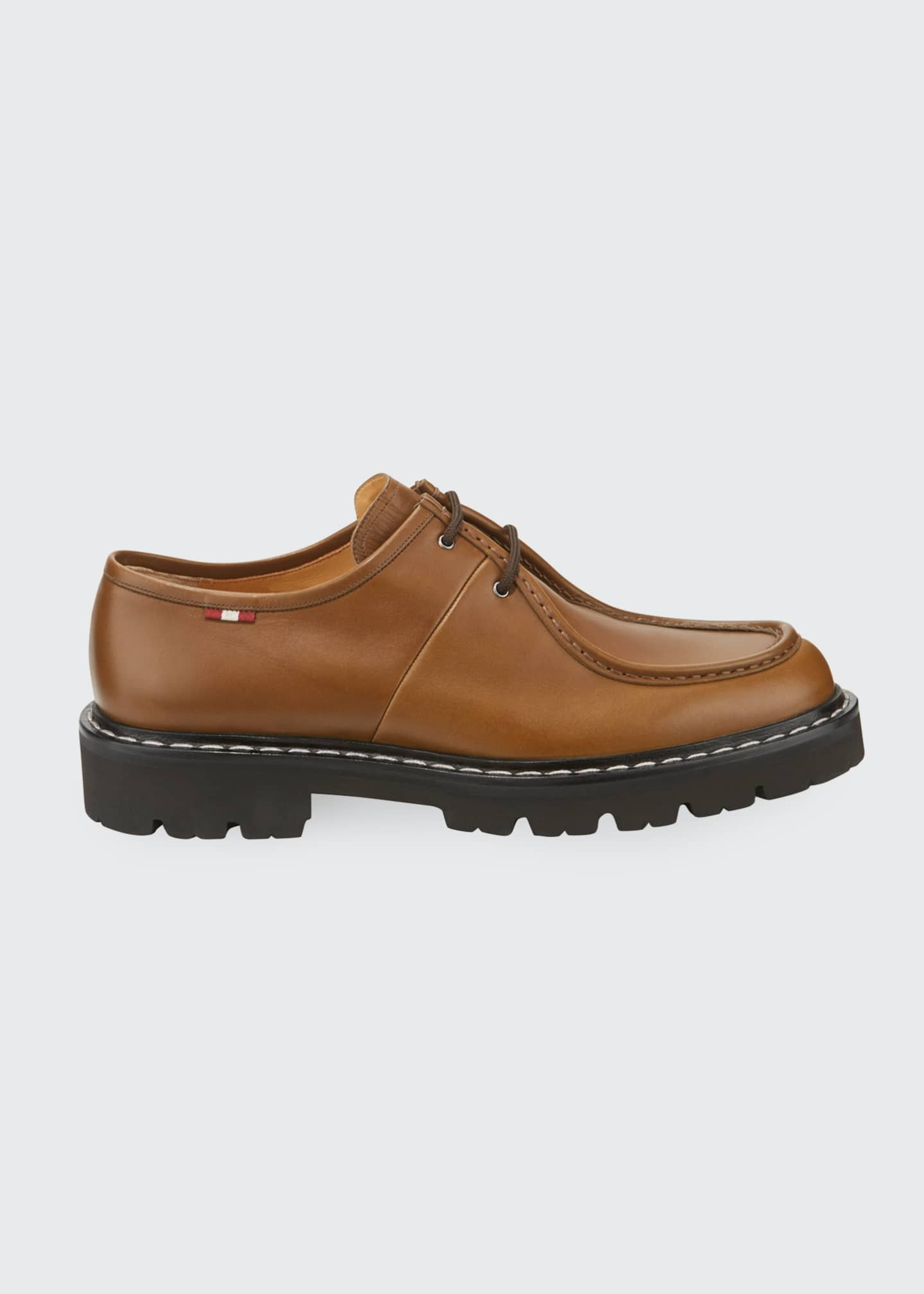 Image 3 of 4: Men's Lug-Sole Leather Derby Shoes
