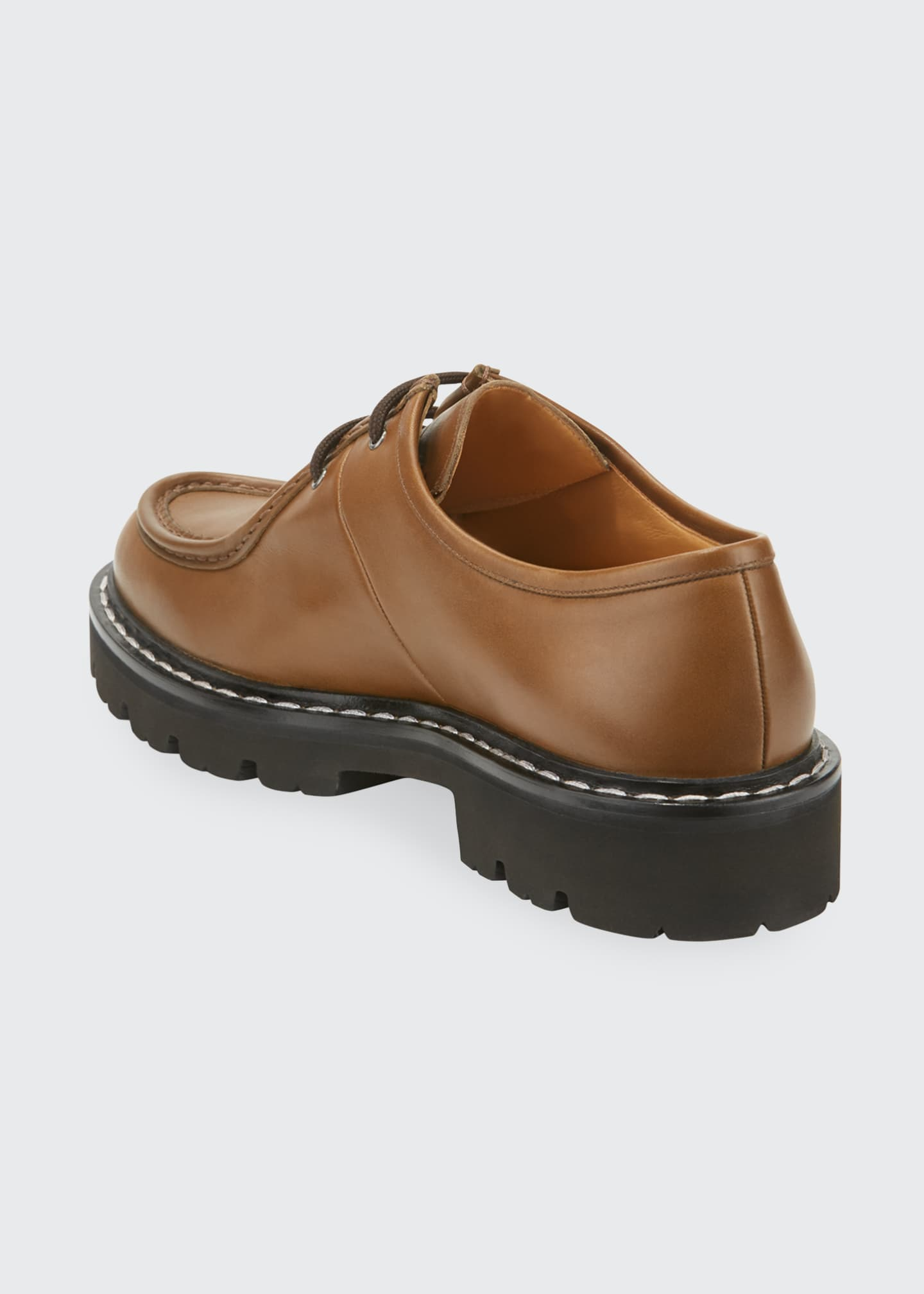 Image 4 of 4: Men's Lug-Sole Leather Derby Shoes