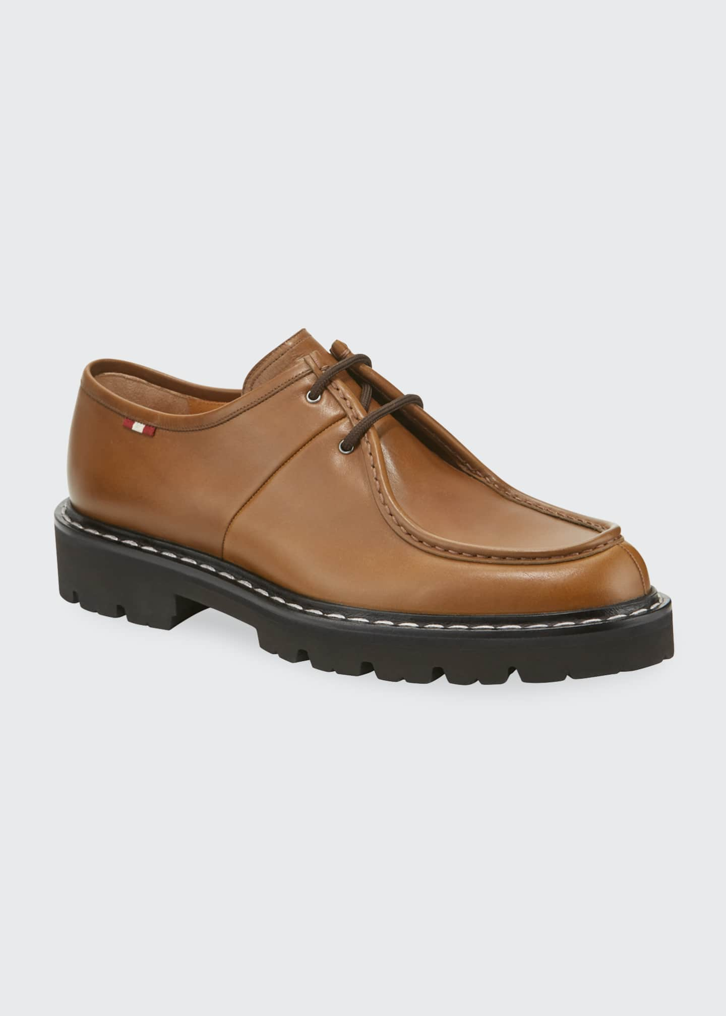 Image 1 of 4: Men's Lug-Sole Leather Derby Shoes