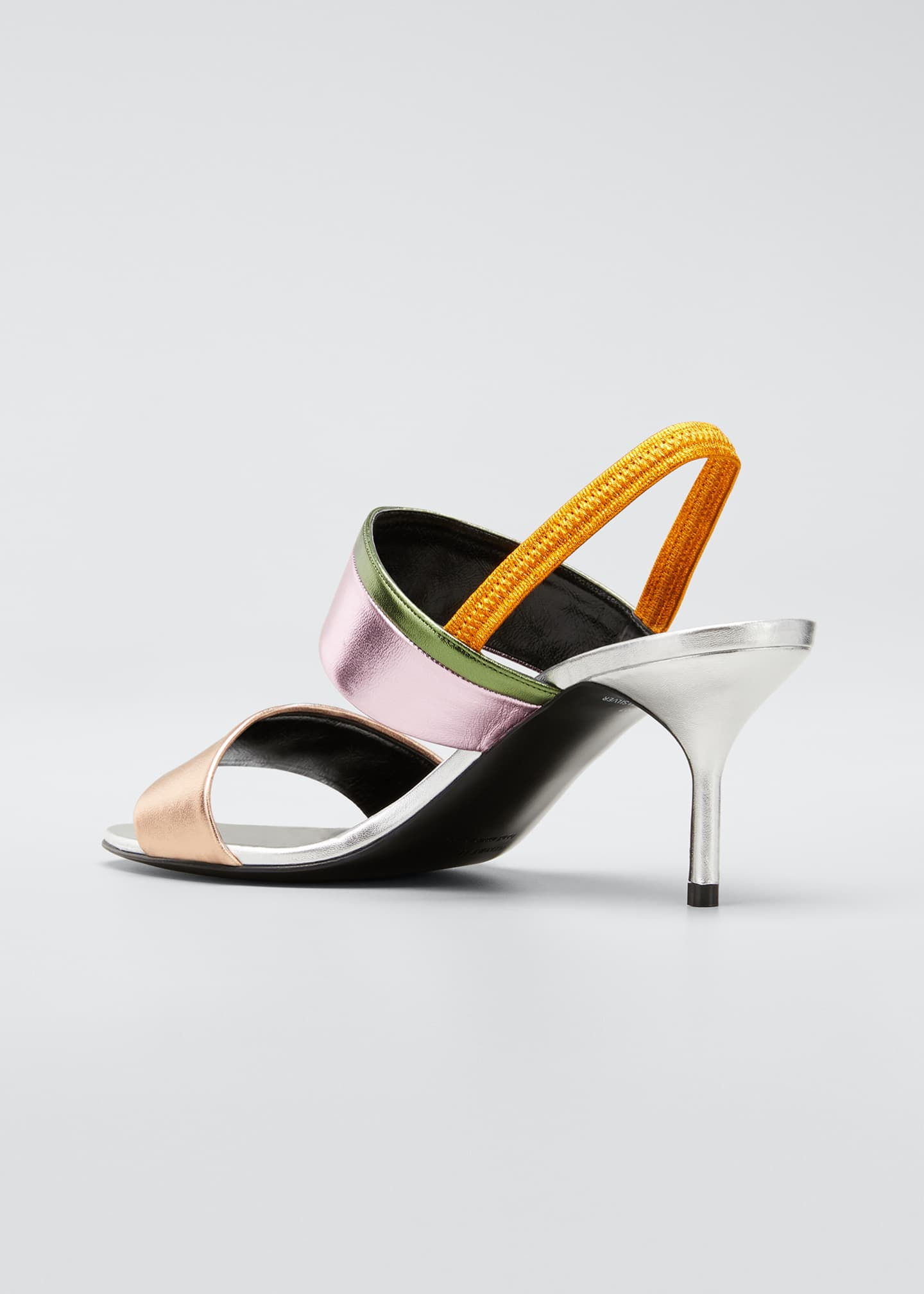 Image 4 of 5: Alpha Party Metallic Slingback Sandals