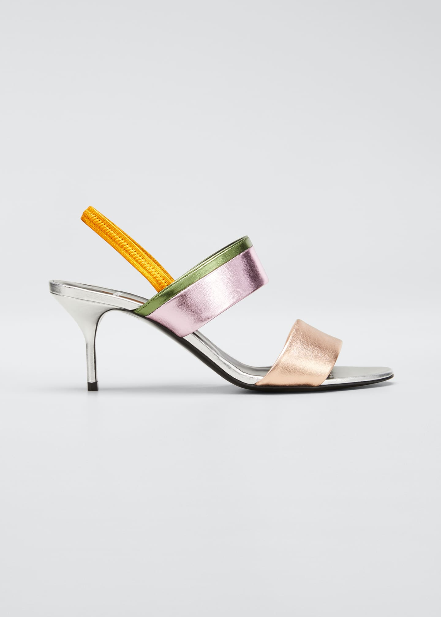 Image 1 of 5: Alpha Party Metallic Slingback Sandals