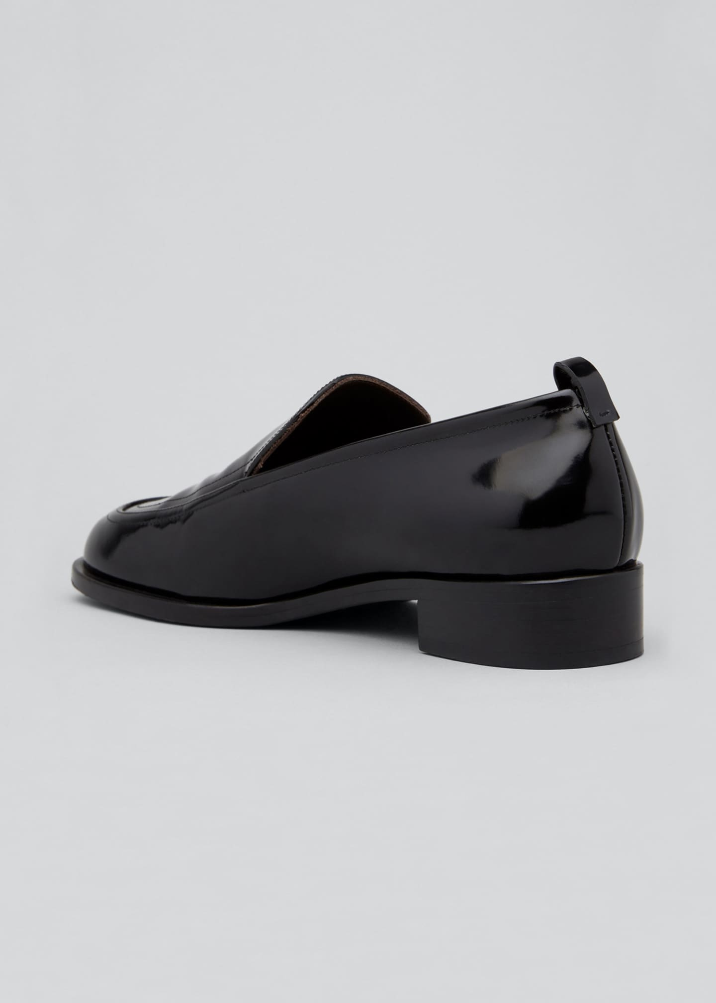 Image 2 of 3: Shiny Leather Penny Loafers