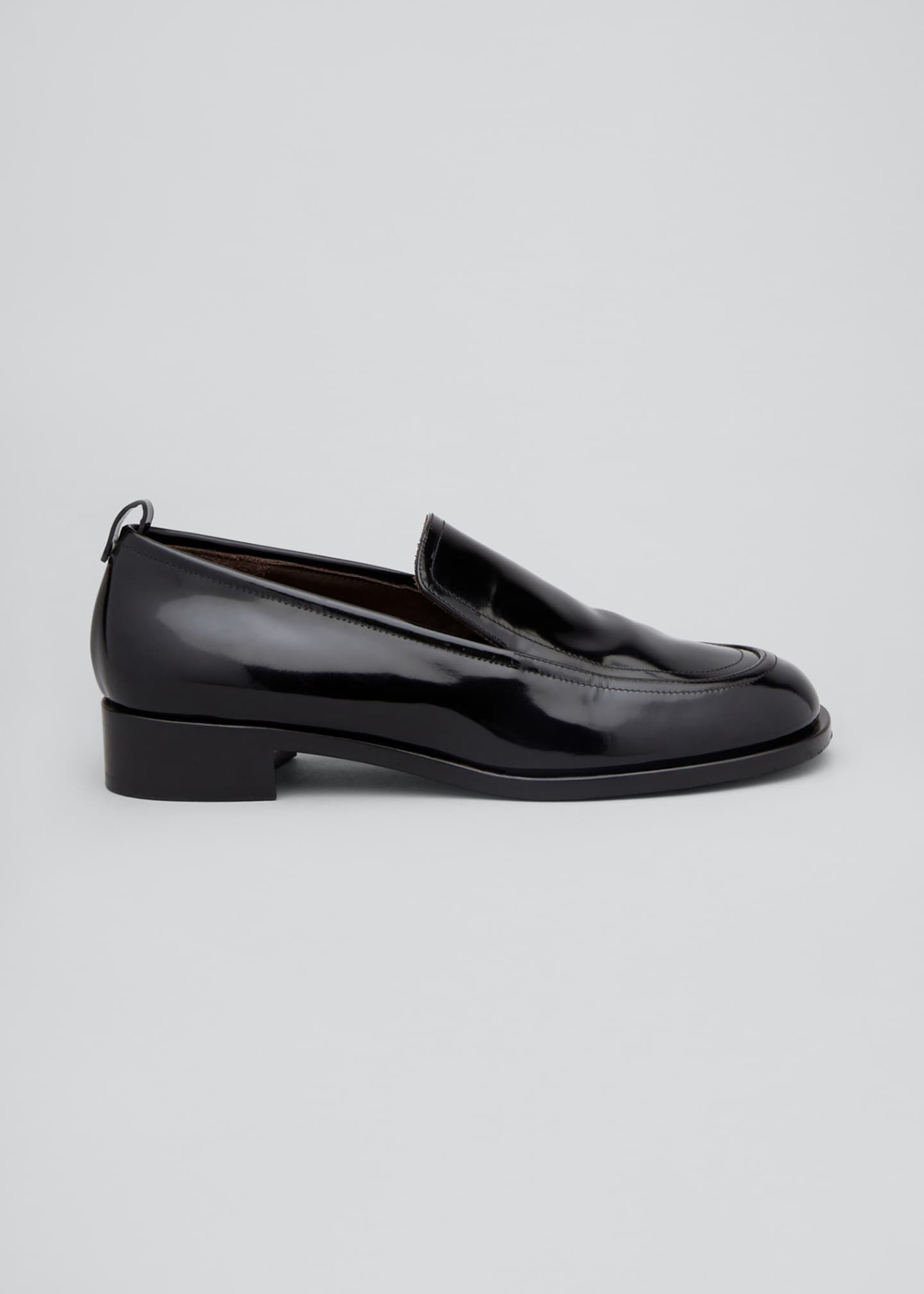 Image 1 of 3: Shiny Leather Penny Loafers