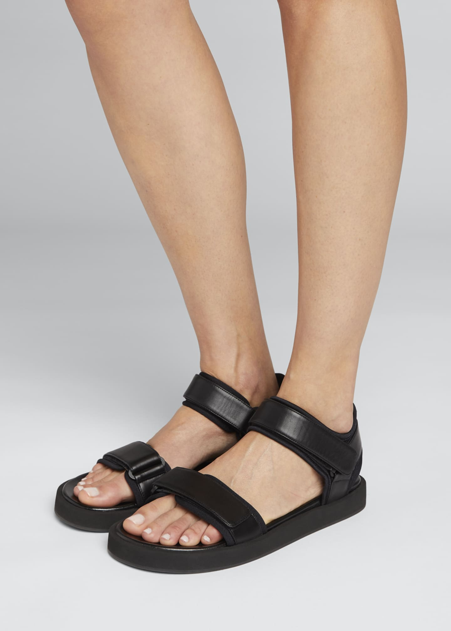 Image 2 of 4: Hook-and-Loop Sandals