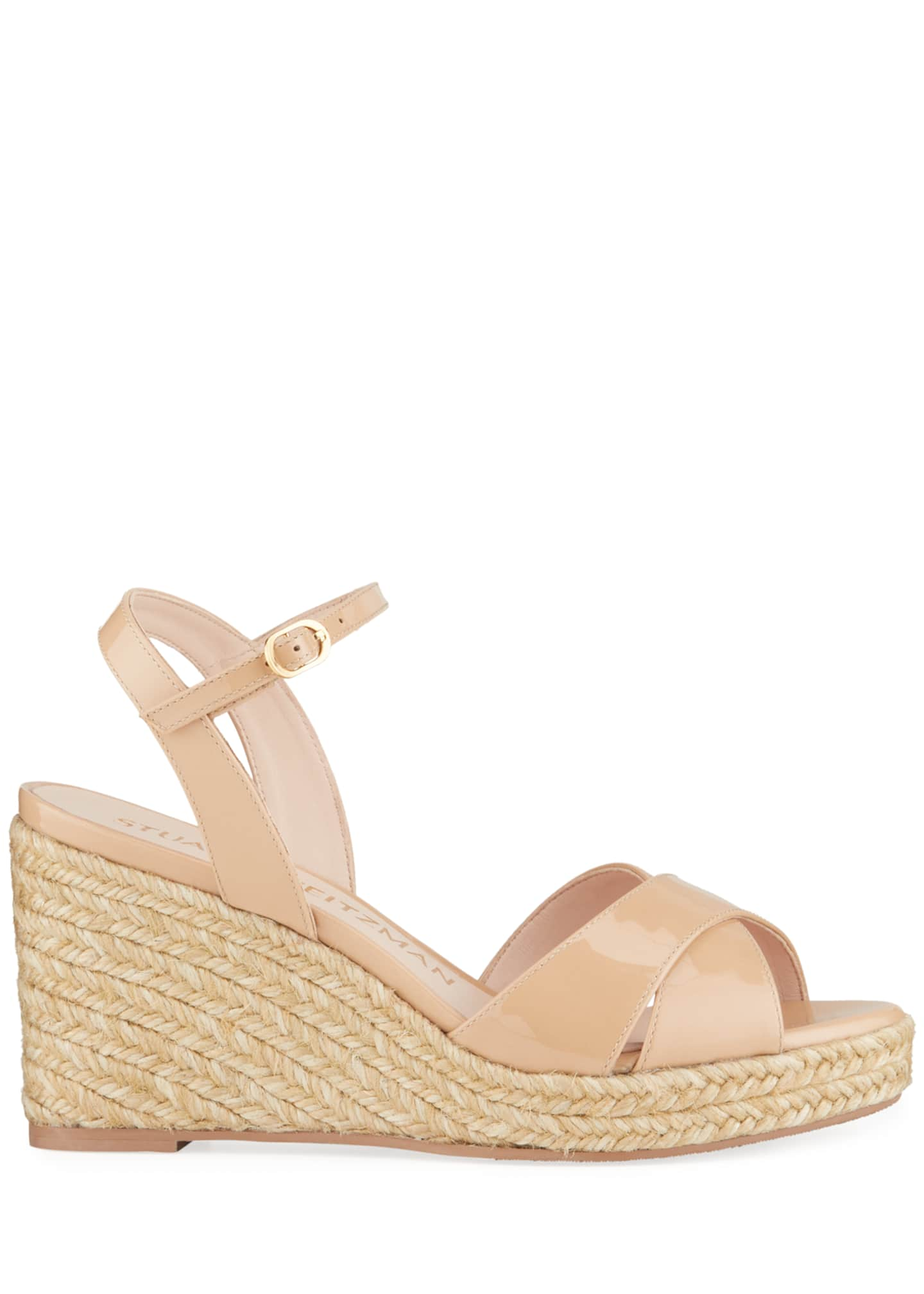 Image 2 of 5: Rosemarie Patent Leather Wedge Espadrille Sandals