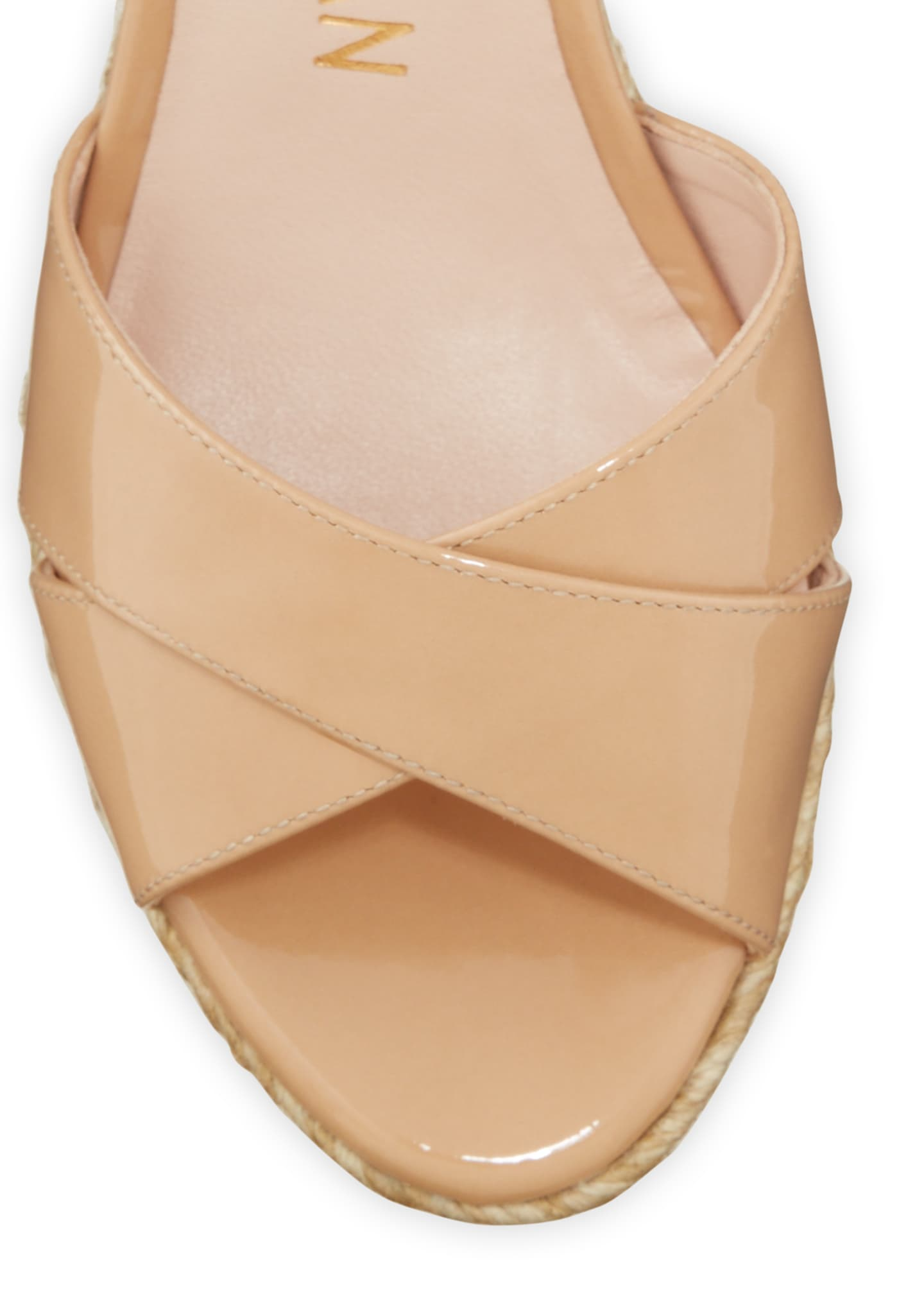 Image 3 of 5: Rosemarie Patent Leather Wedge Espadrille Sandals