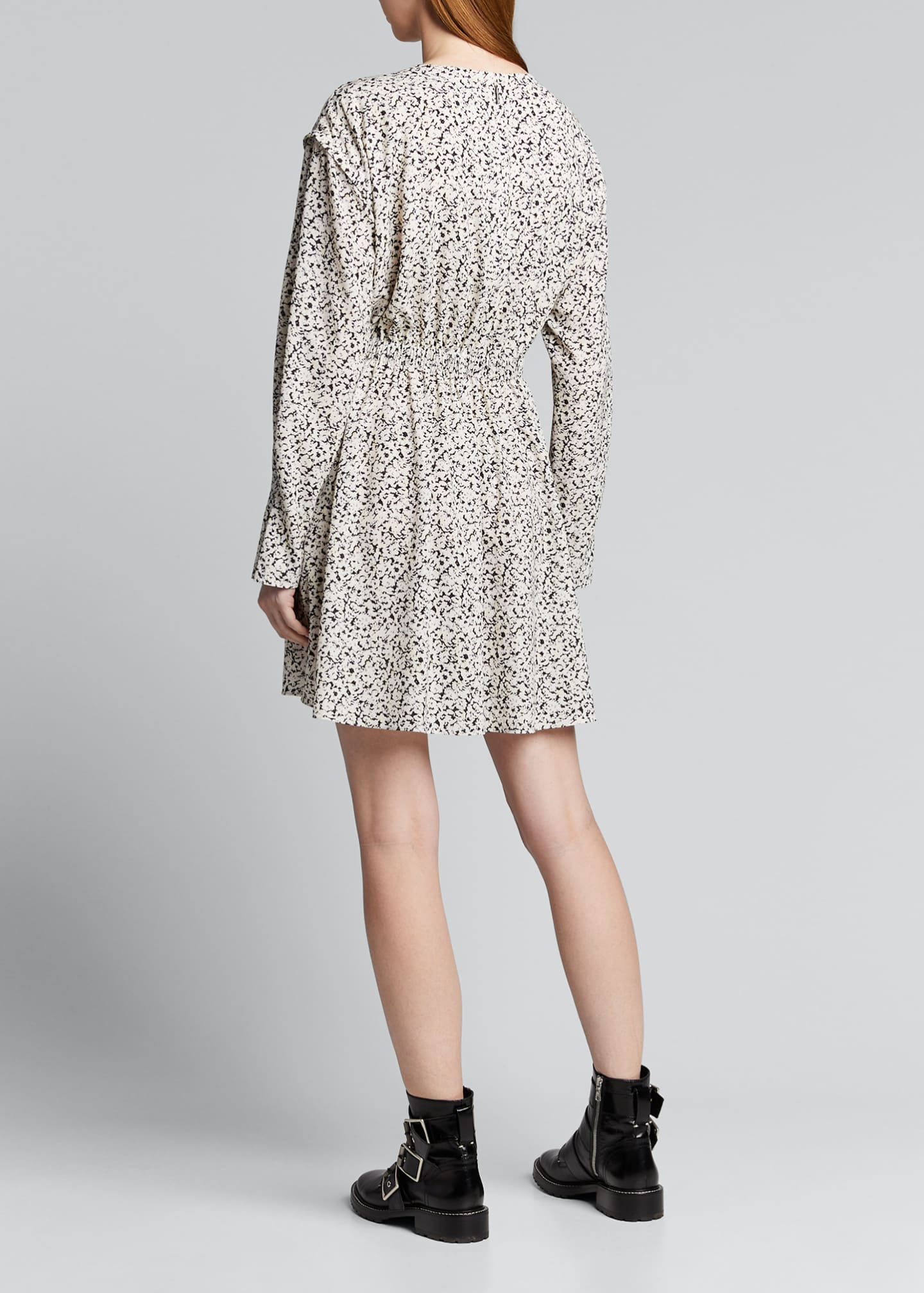 Image 2 of 5: Inverse Floral Long-Sleeve Mini Dress