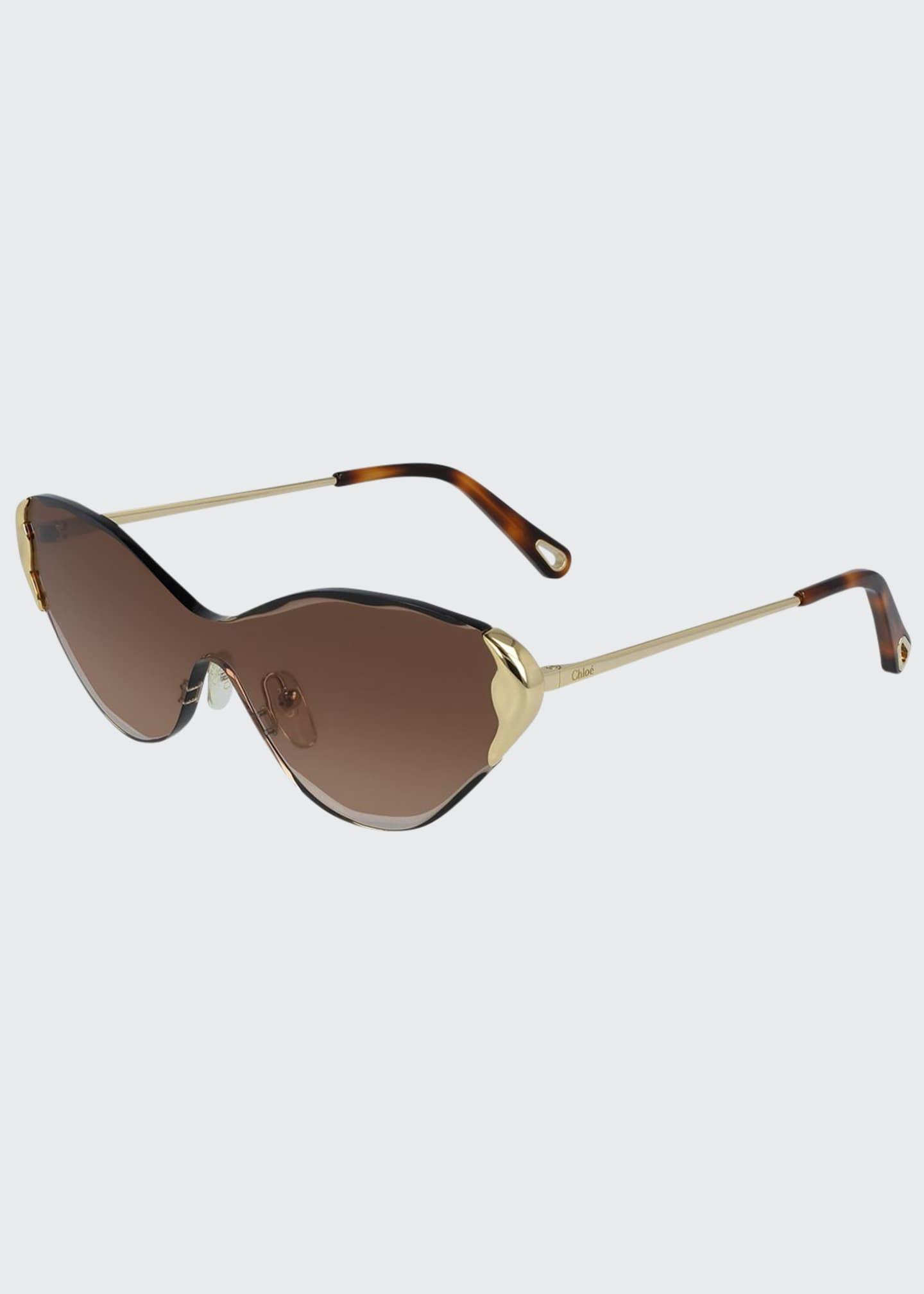 Chloe Rimless Cat-Eye Shield Sunglasses