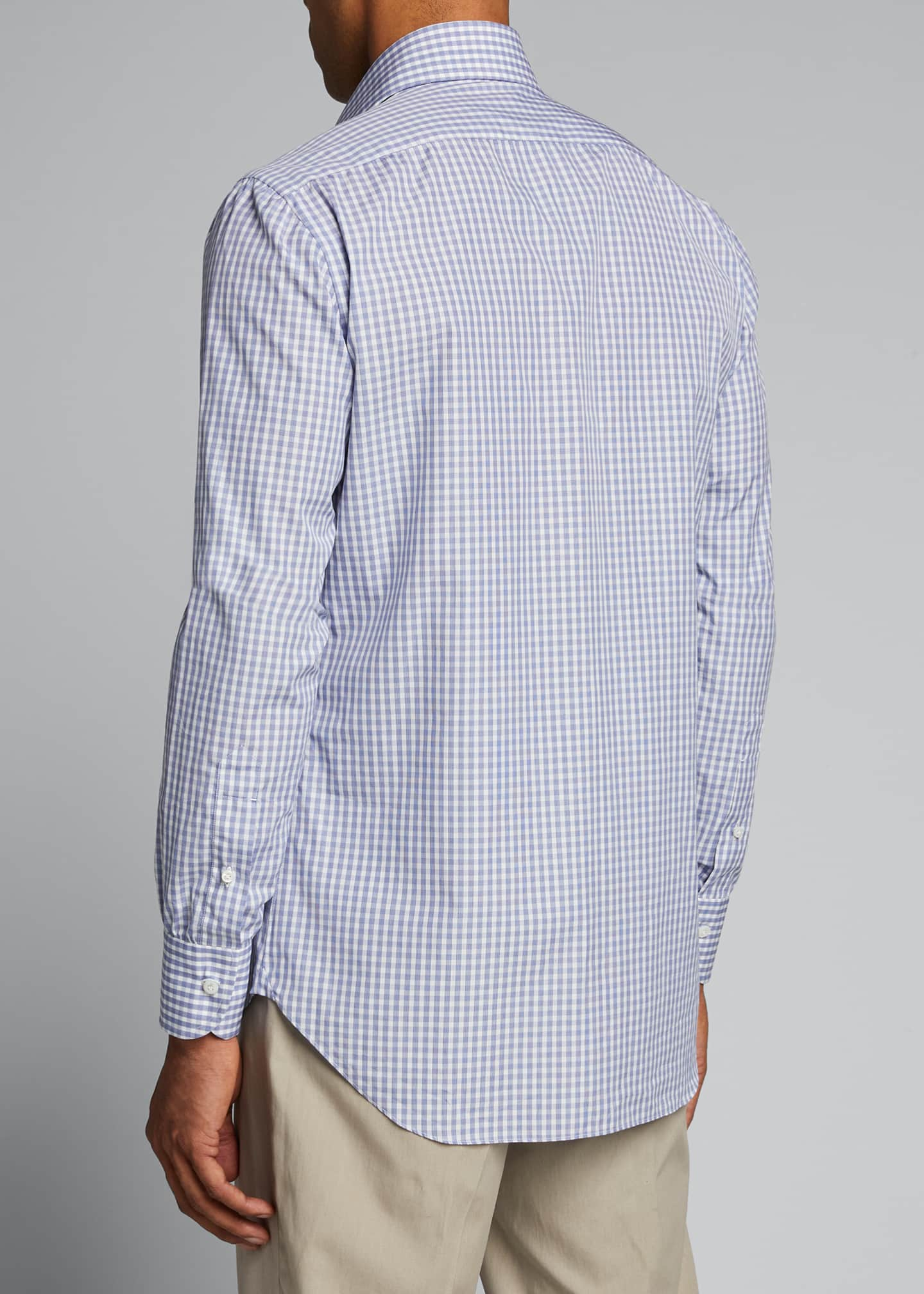 Image 2 of 5: Men's Check Cotton Sport Shirt