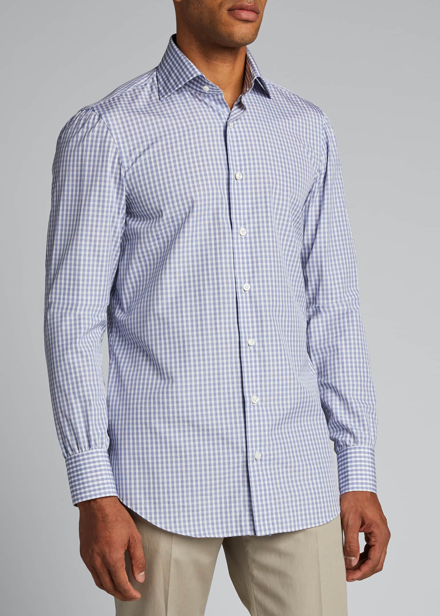 Image 3 of 5: Men's Check Cotton Sport Shirt
