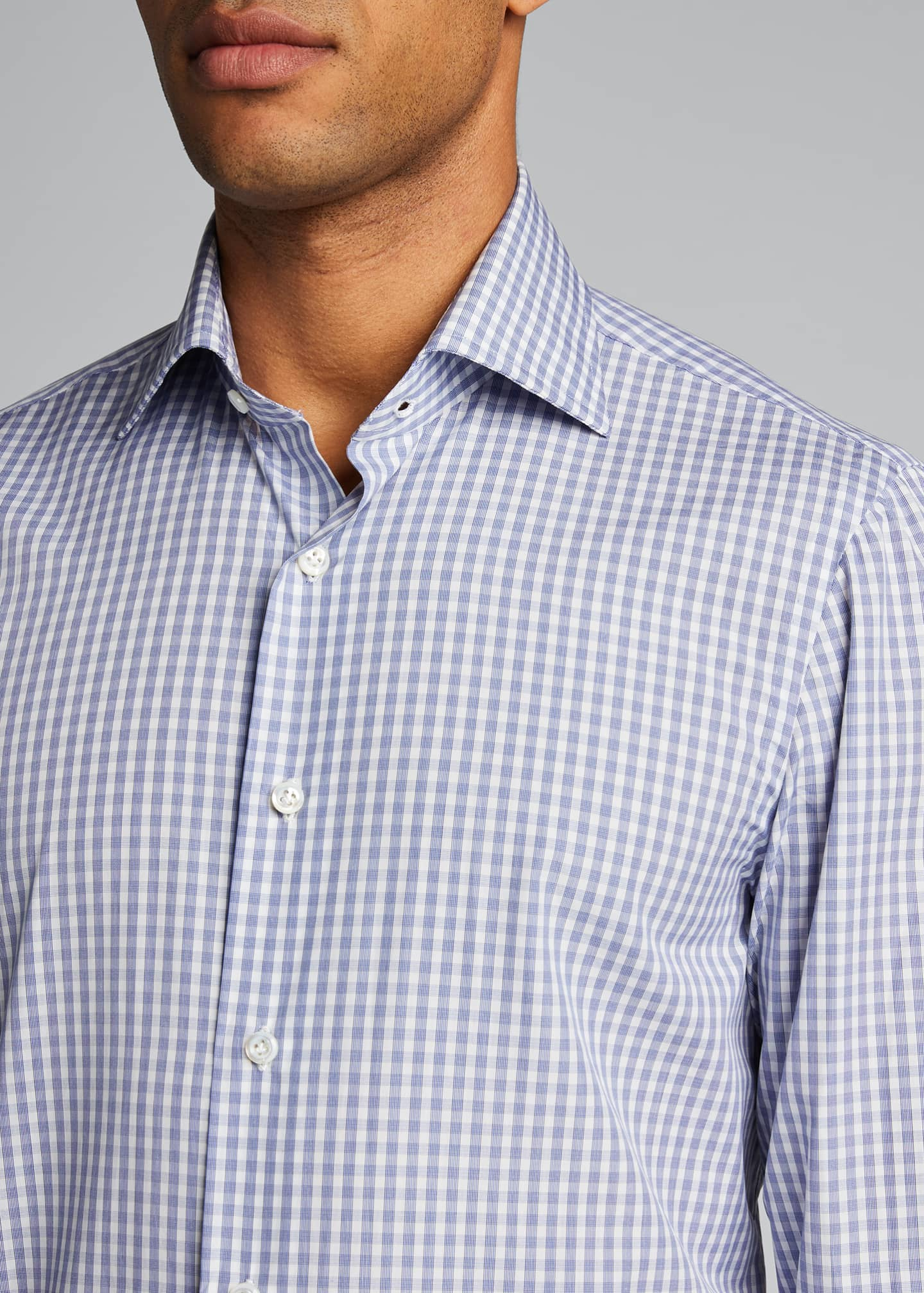 Image 4 of 5: Men's Check Cotton Sport Shirt