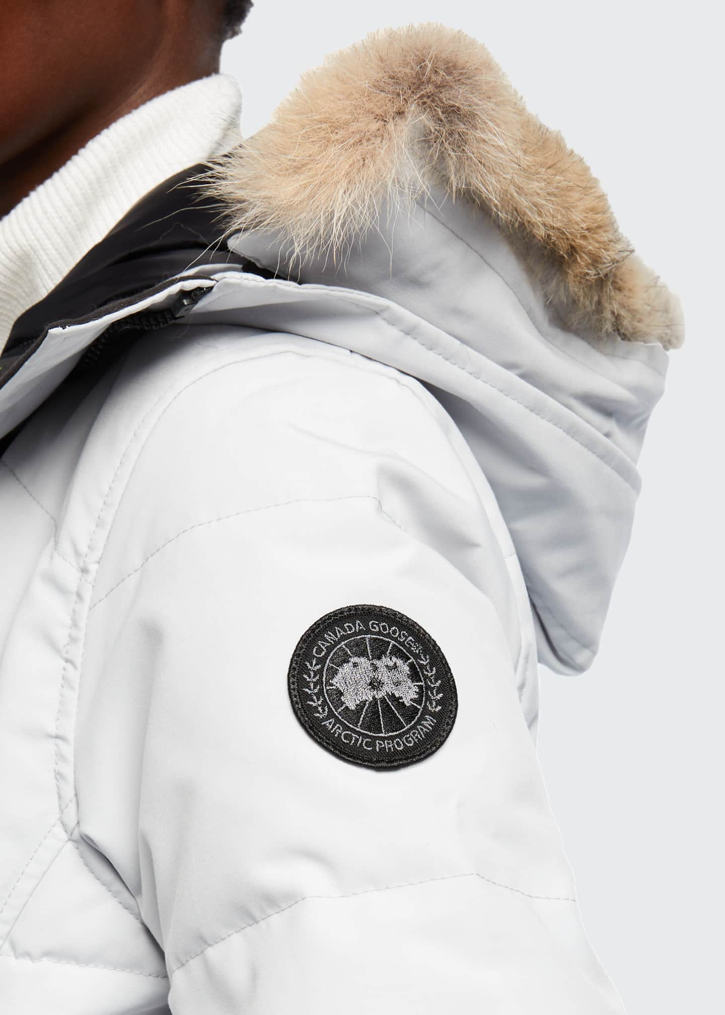 Image 4 of 4: Lorette Coyote Fur-Trim Hooded Parka