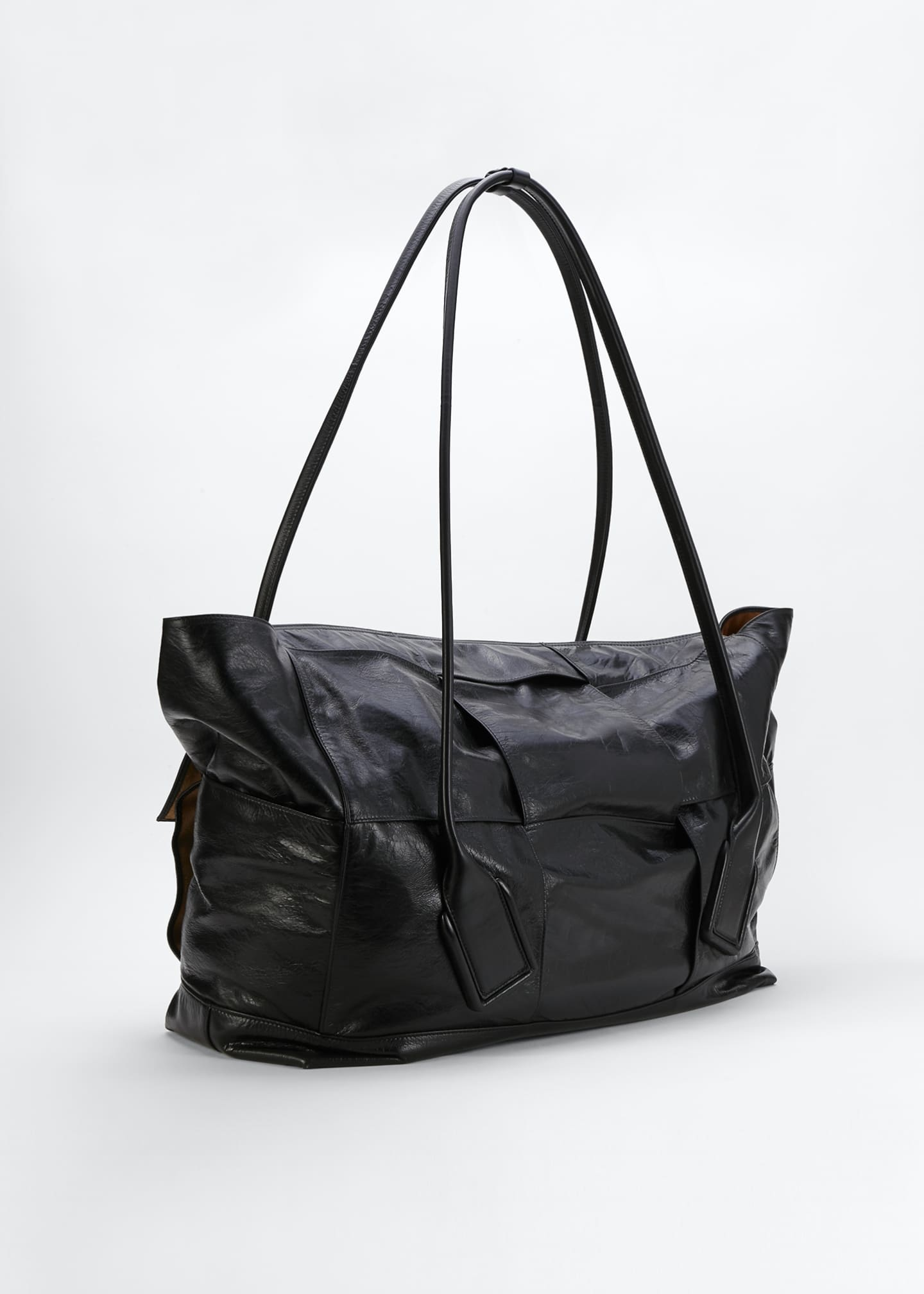 Image 2 of 2: Large Intrecciato Top Handle Tote Bag