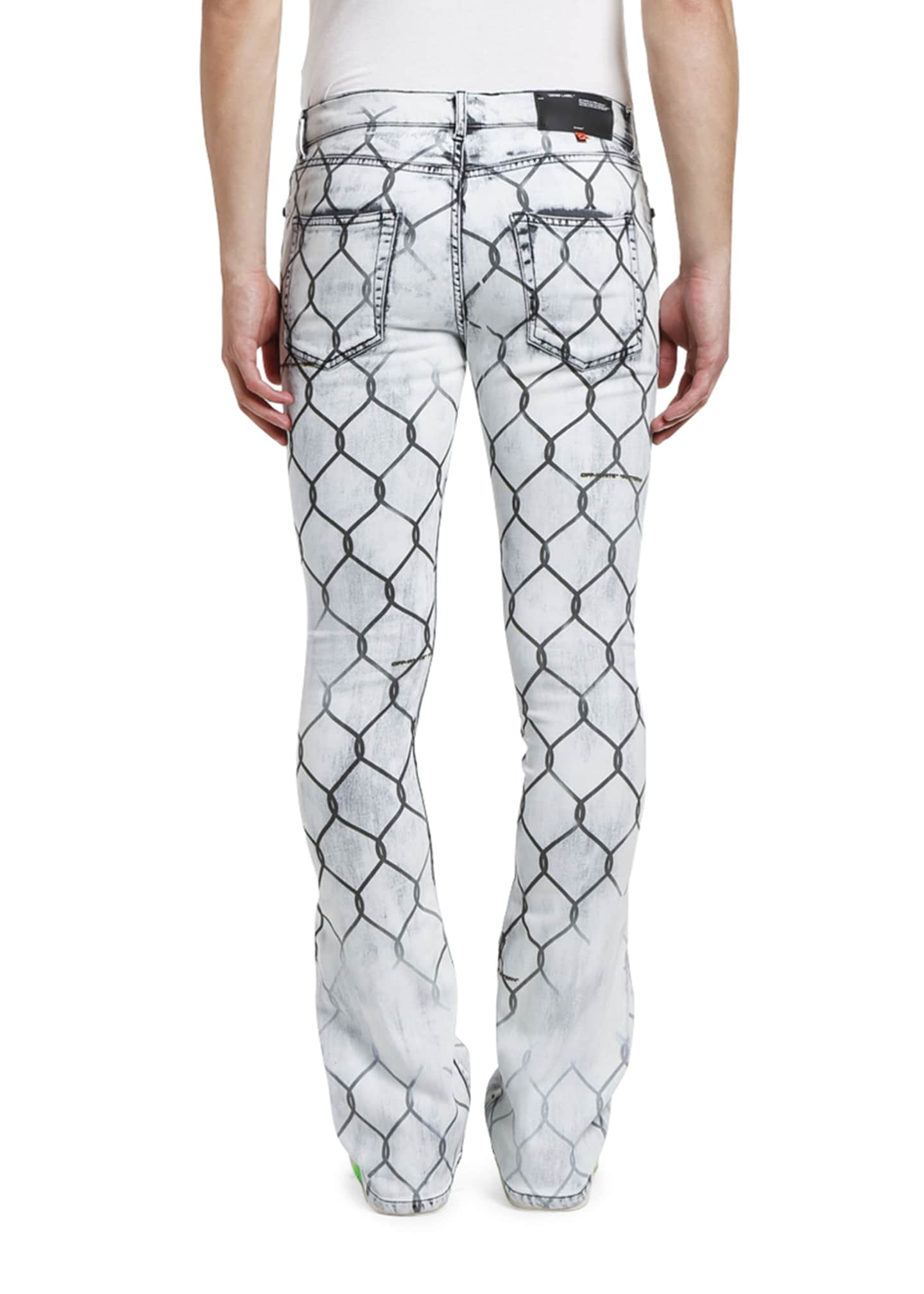 Image 2 of 2: Men's Fancy Skinny Stacked Fence Jeans