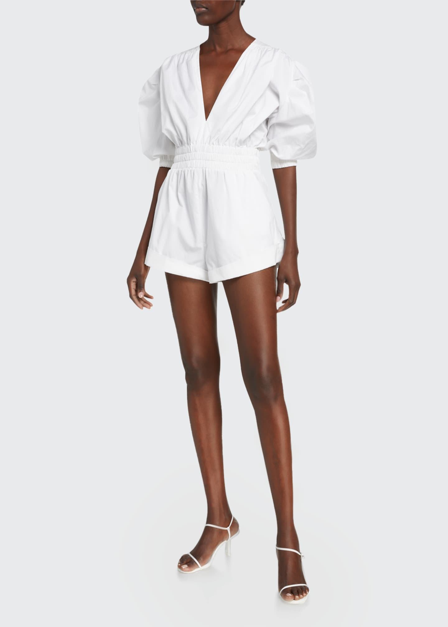 Image 1 of 2: Lineasa Short-Sleeve Romper