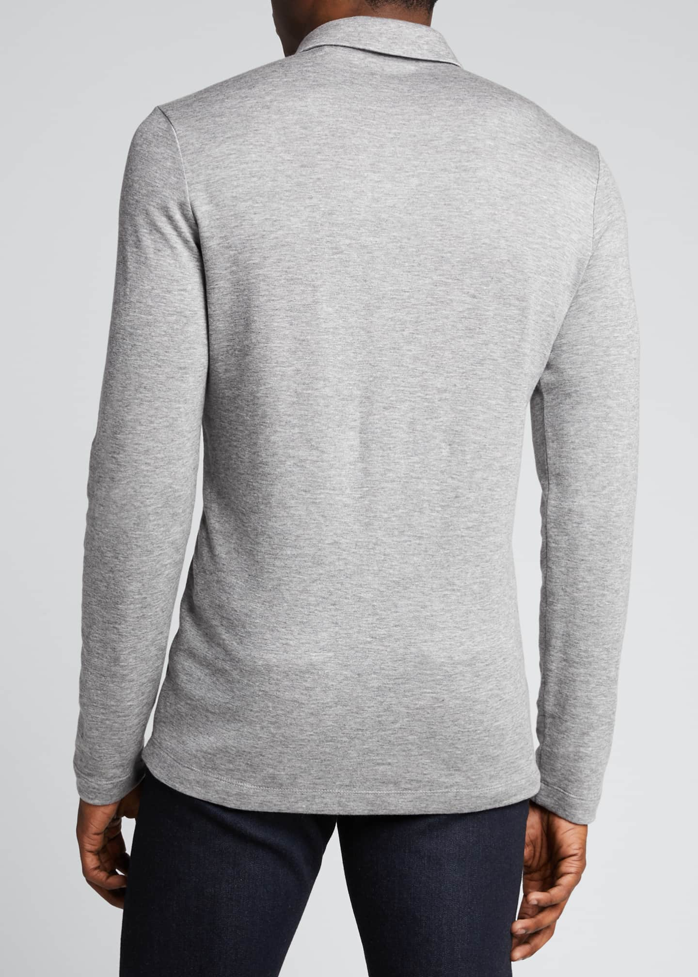 Image 2 of 5: Men's Double-Cashmere Jersey Long-Sleeve Shirt