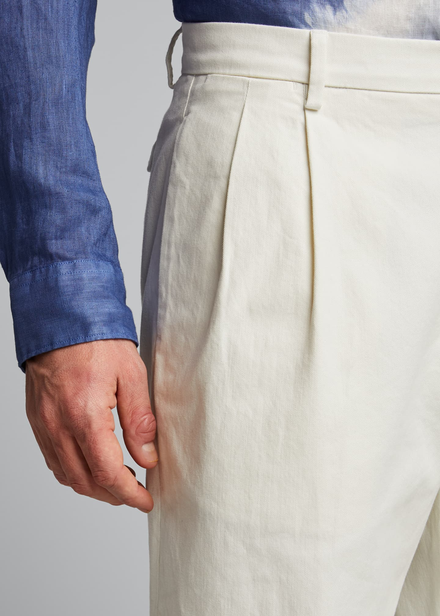 Image 4 of 5: x B Shop Men's Federal Pleated Chino Pants