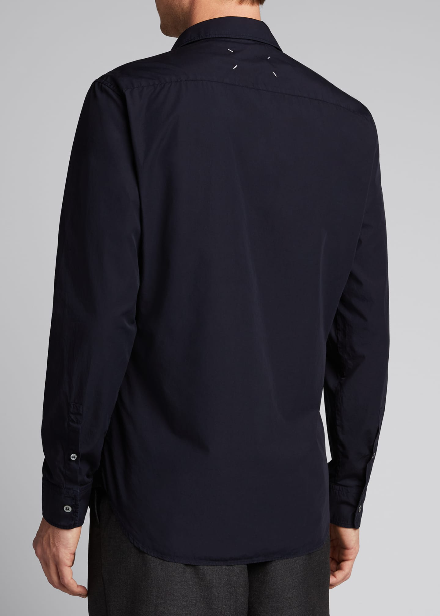 Image 2 of 5: Men's Garment-Dyed Sport Shirt w/ Pocket Stitching