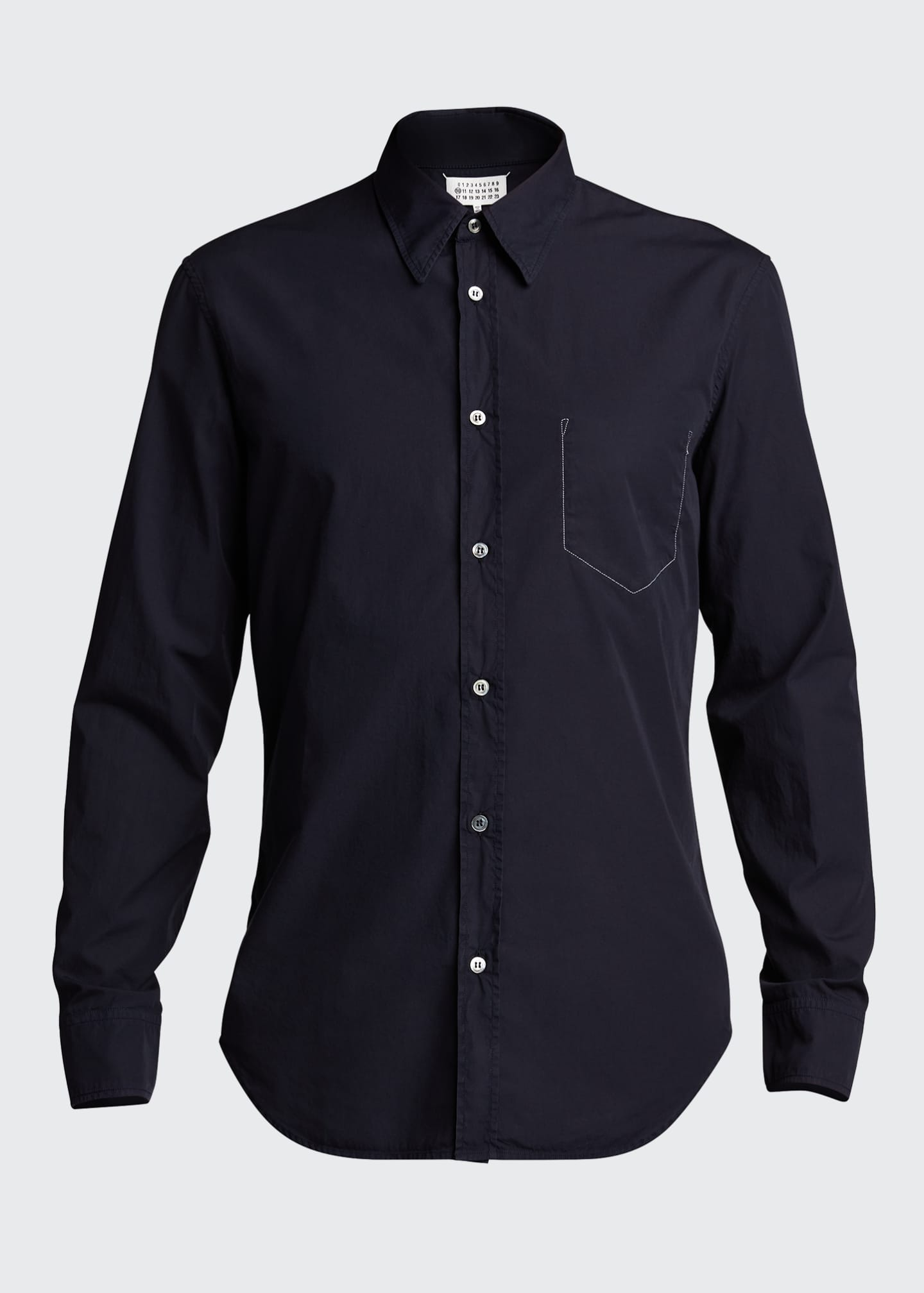 Image 5 of 5: Men's Garment-Dyed Sport Shirt w/ Pocket Stitching
