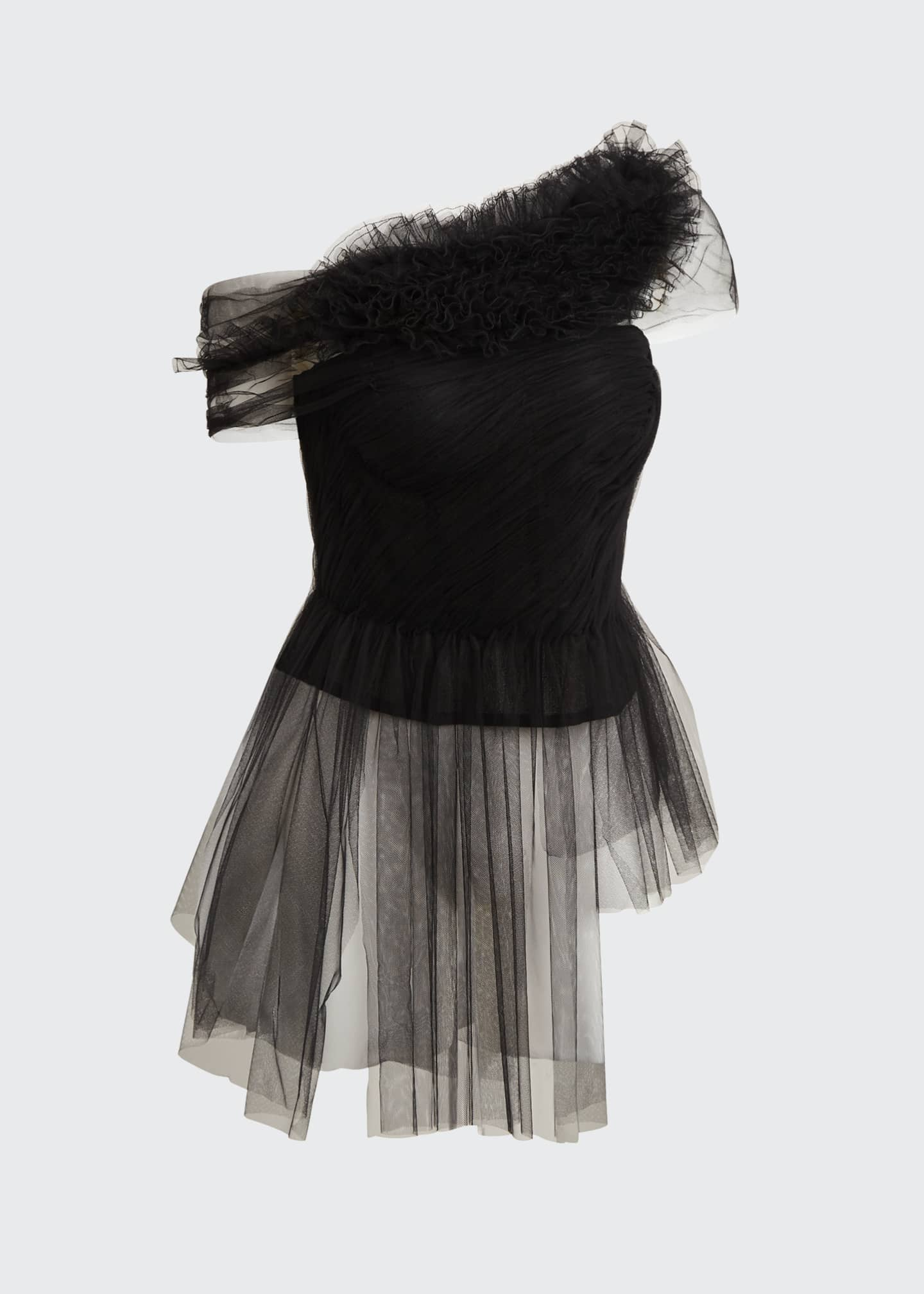 Image 5 of 5: Illusion Tulle Bustier Top