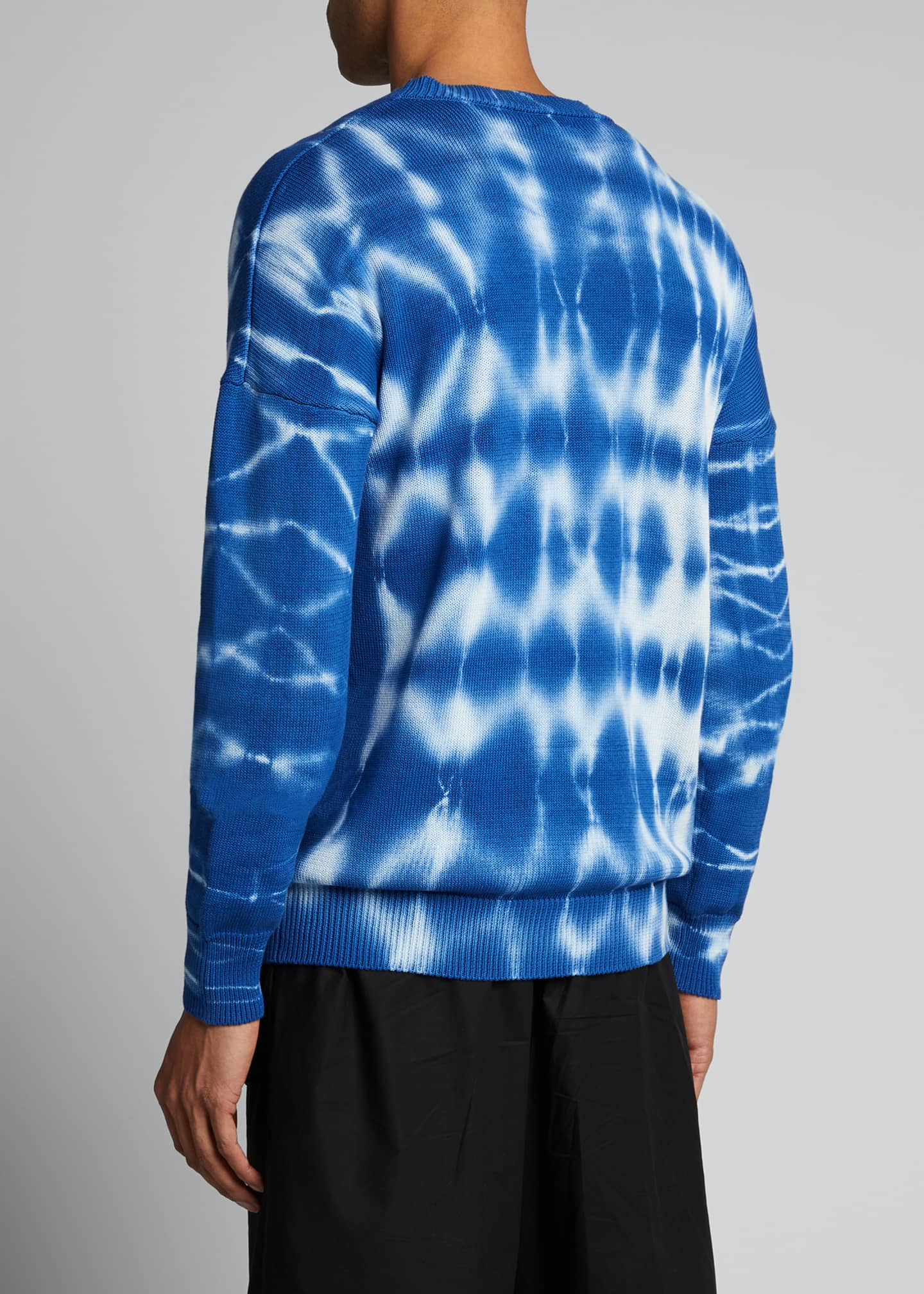 Image 2 of 5: Men's Tie-Dye Crewneck Sweater