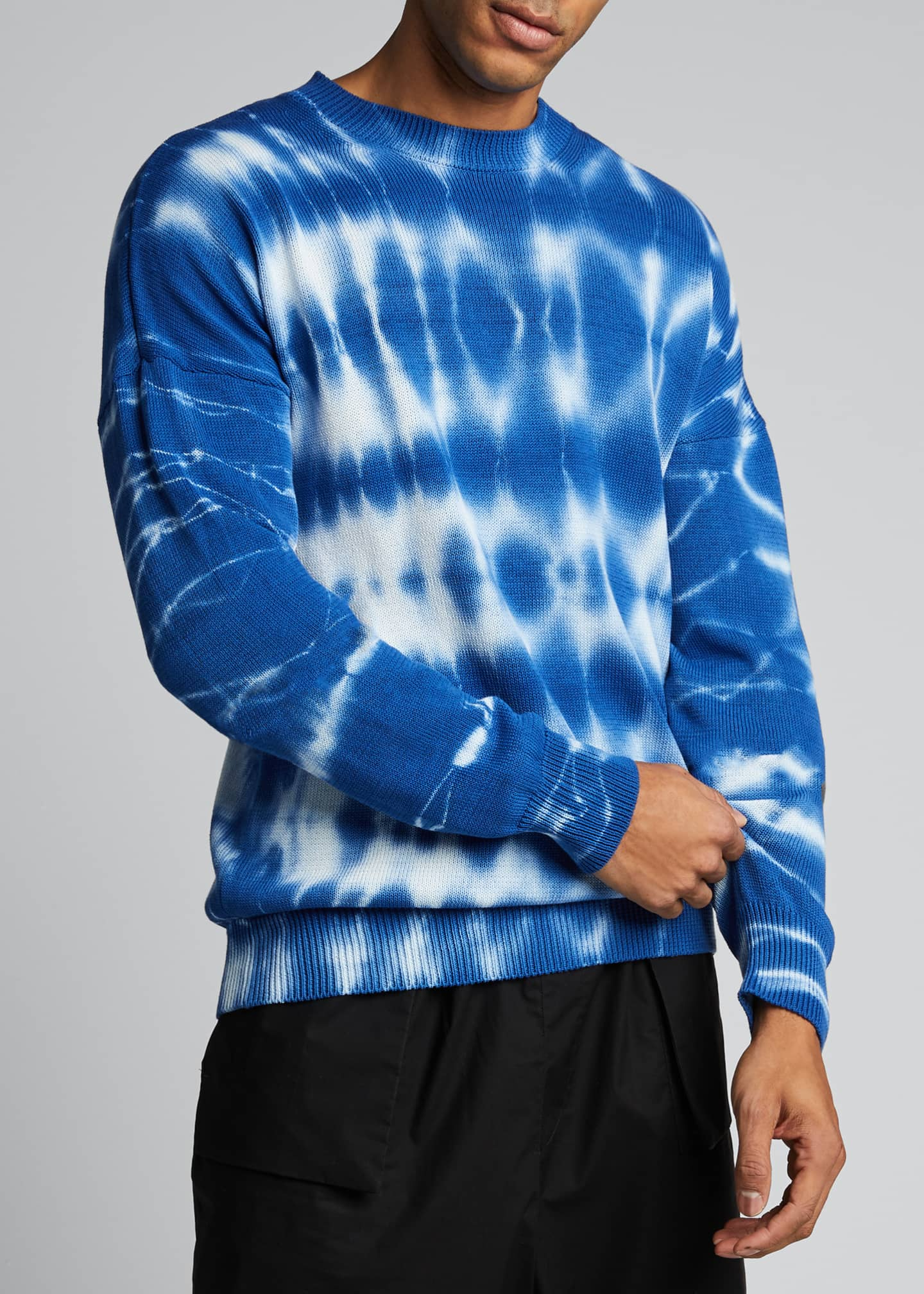 Image 3 of 5: Men's Tie-Dye Crewneck Sweater