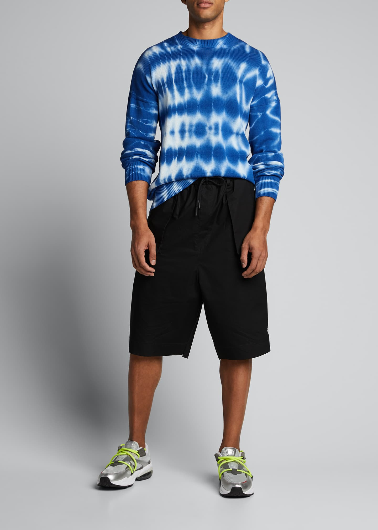 Image 1 of 5: Men's Tie-Dye Crewneck Sweater