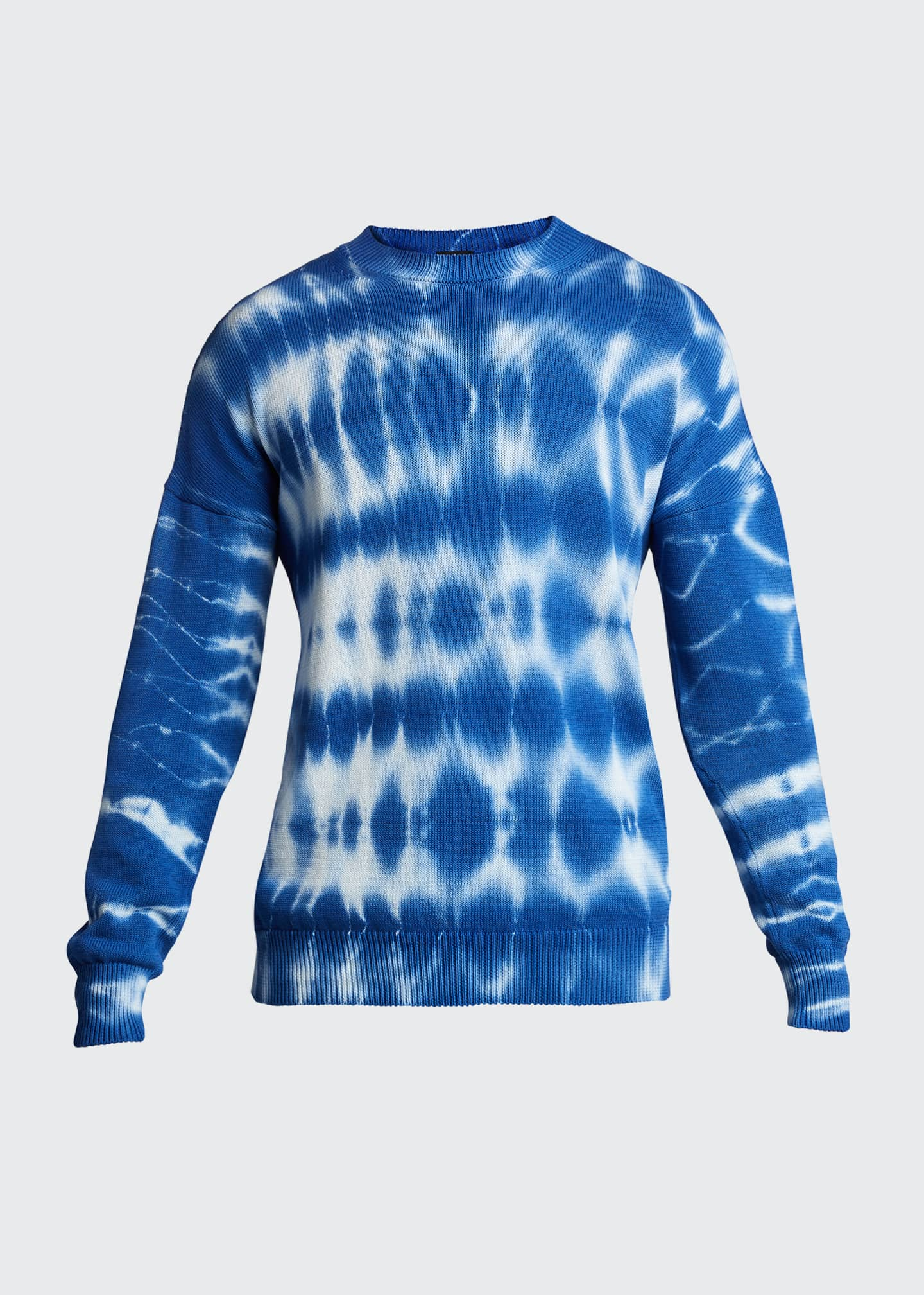 Image 5 of 5: Men's Tie-Dye Crewneck Sweater