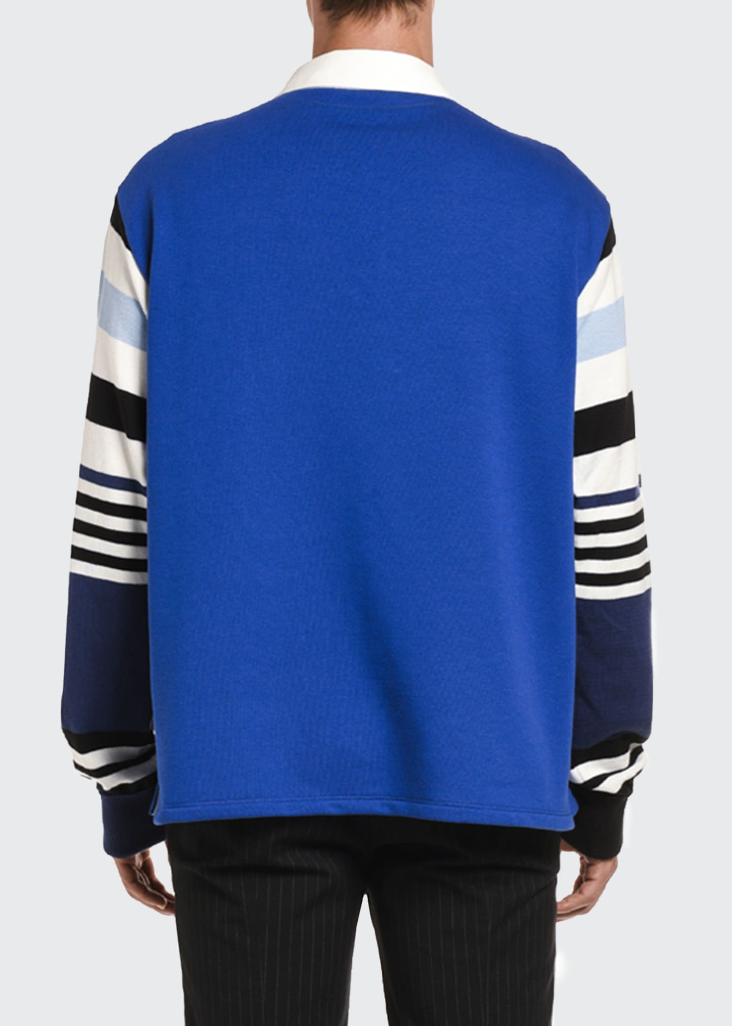 Image 2 of 2: Men's Stripe-Trim Rugby Shirt