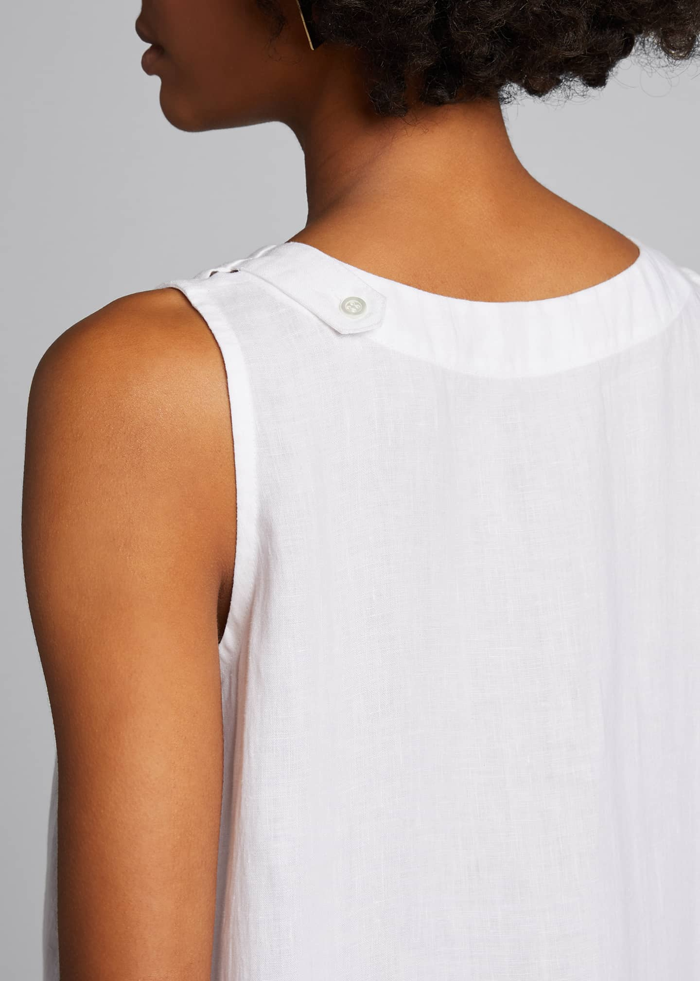 Image 4 of 5: Linen A-Line Top