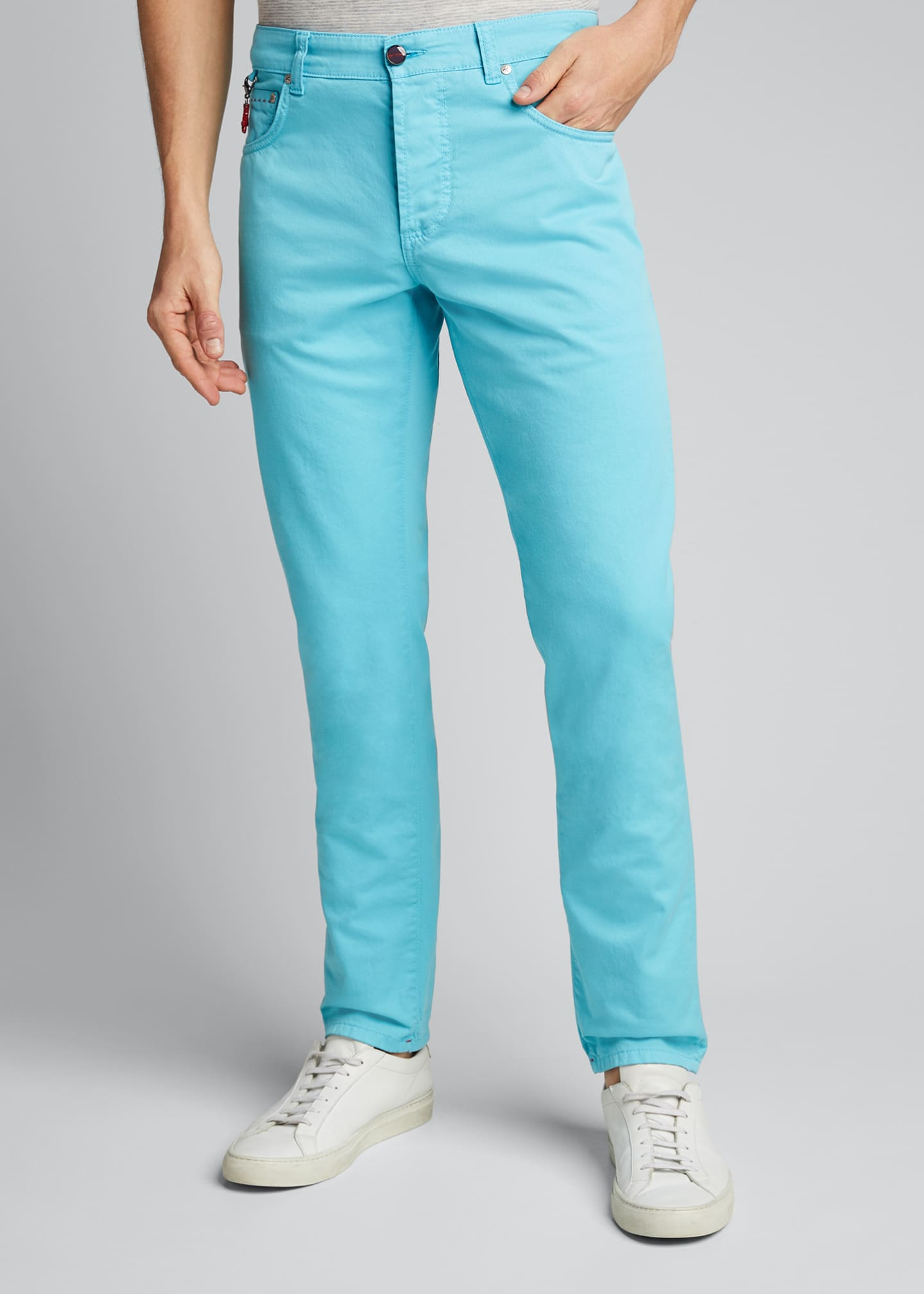 Image 3 of 5: Men's 5-Pocket Stretch-Twill Pants