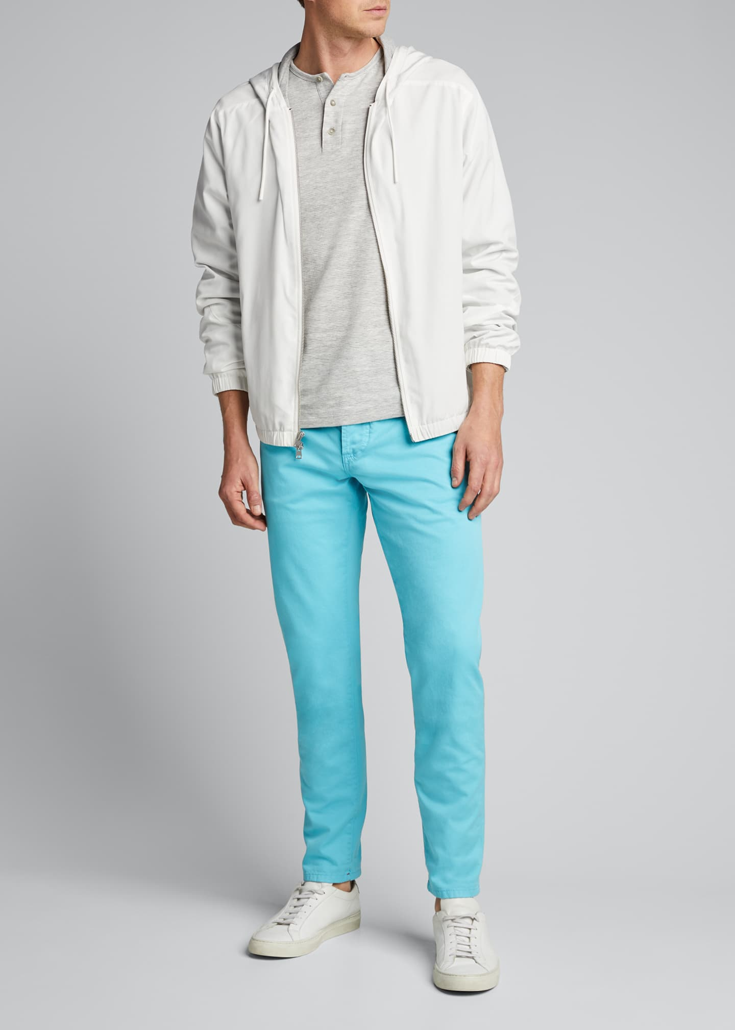 Image 1 of 5: Men's 5-Pocket Stretch-Twill Pants