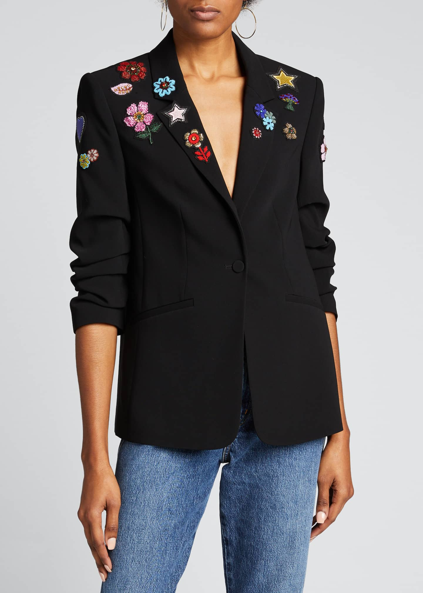 Image 3 of 5: Kylie Flower Power Embroidered Jacket