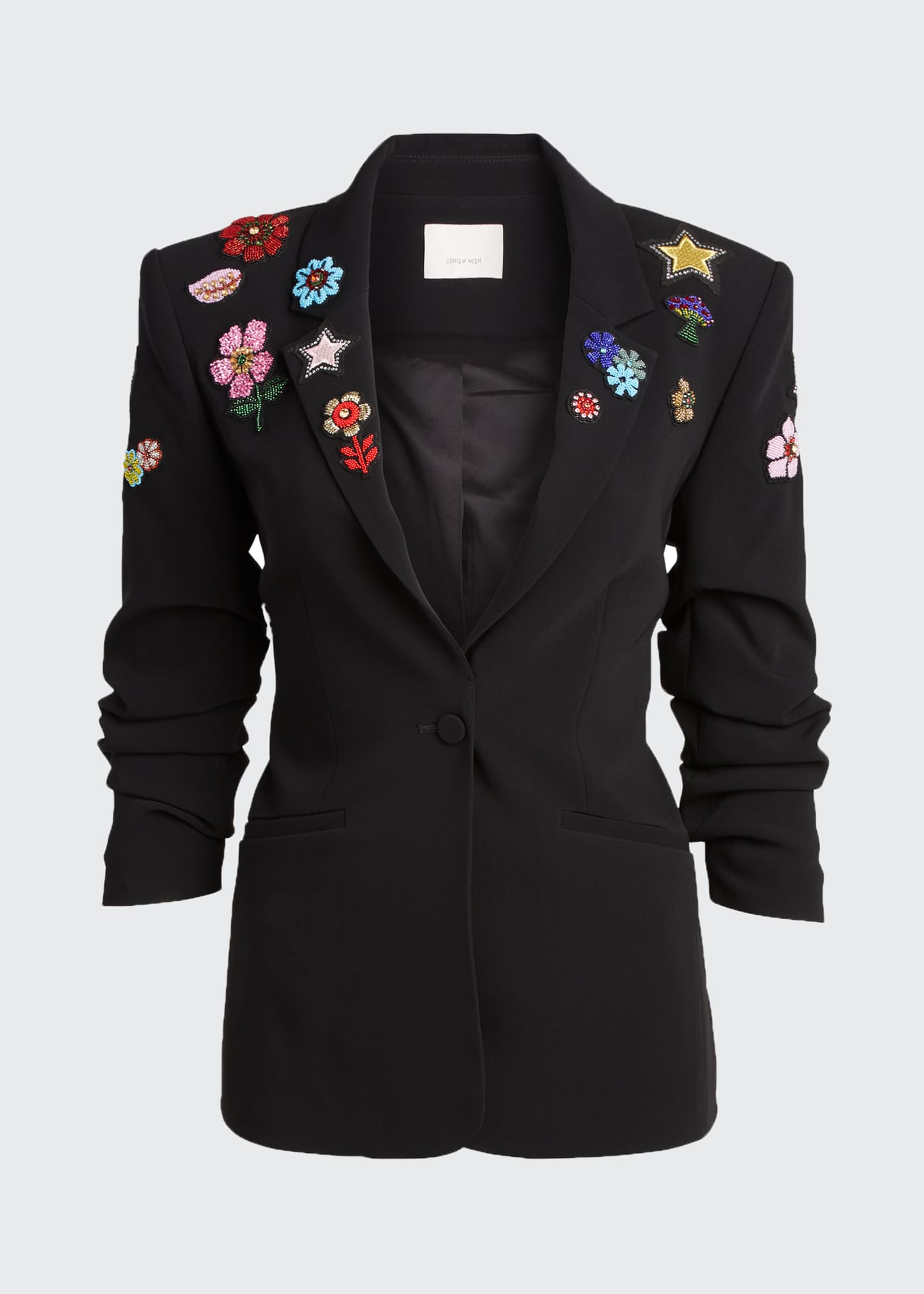 Image 5 of 5: Kylie Flower Power Embroidered Jacket