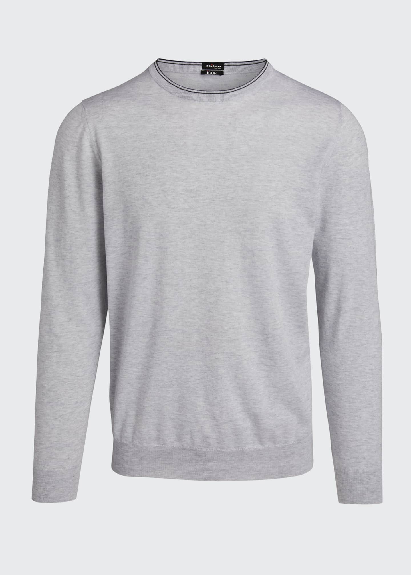 Image 5 of 5: Men's Crewneck Cotton Sweater
