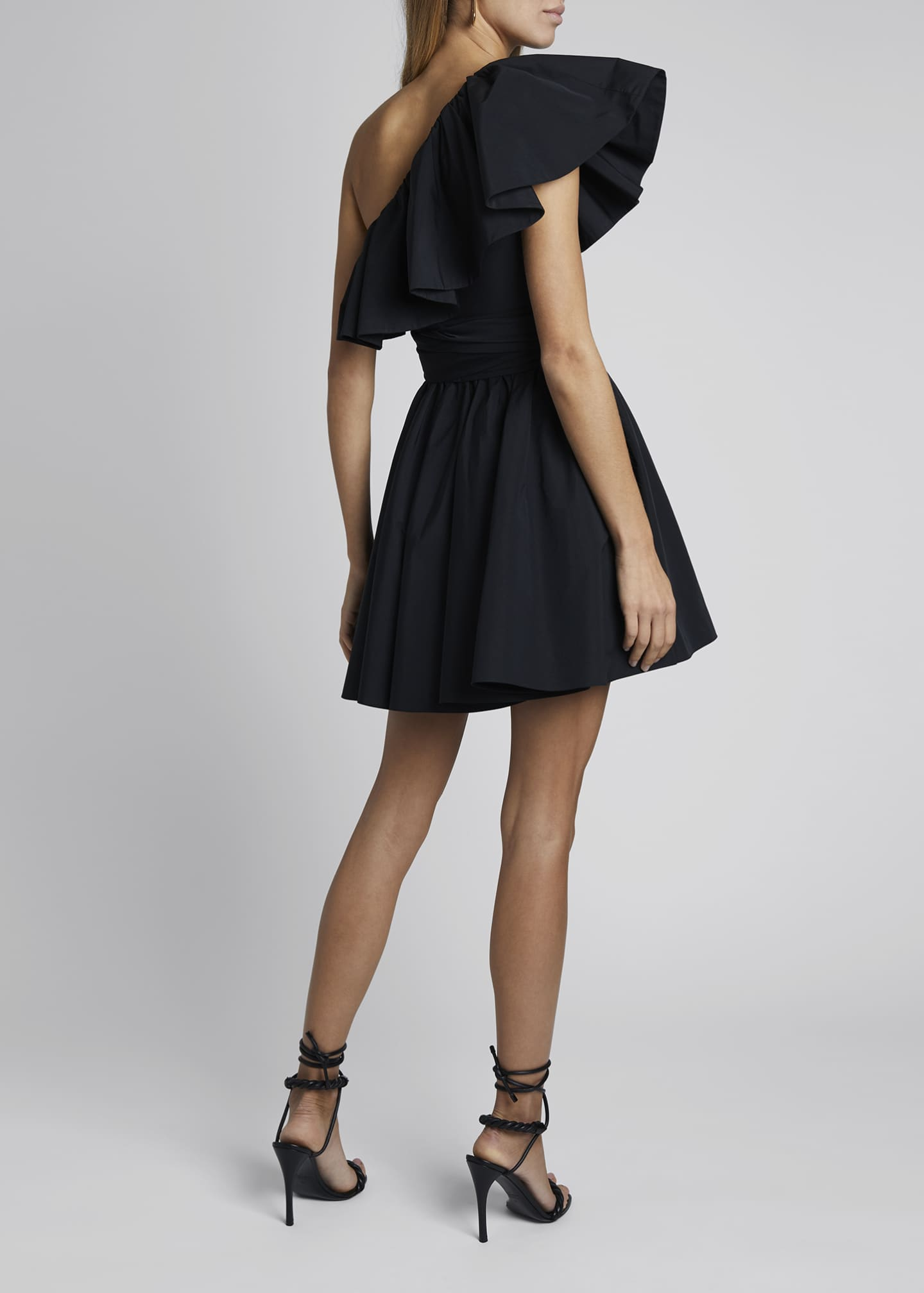 Image 2 of 4: One-Shoulder Micro Faille Dress