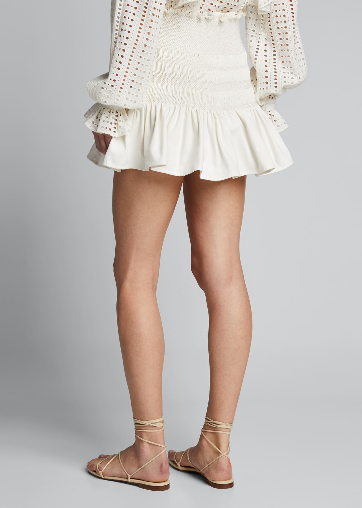 Image 2 of 5: Arlo Smocked Mini Skirt