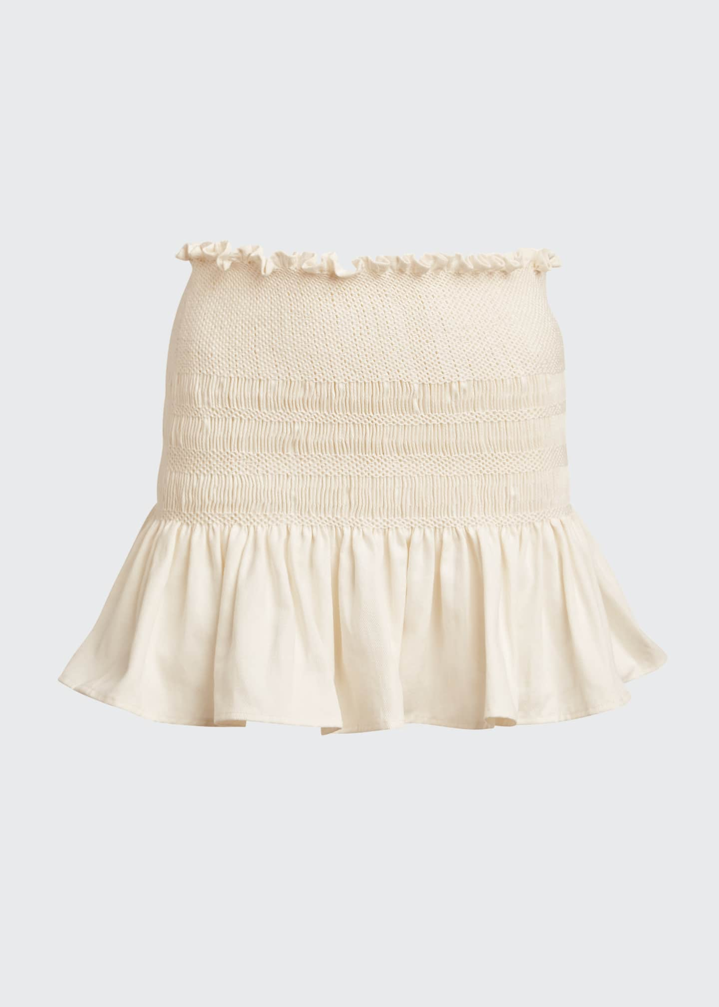 Image 5 of 5: Arlo Smocked Mini Skirt