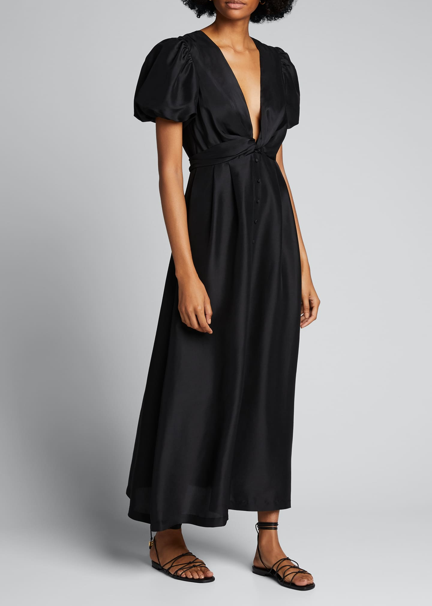Image 3 of 5: Carmen Silk Maxi Gown