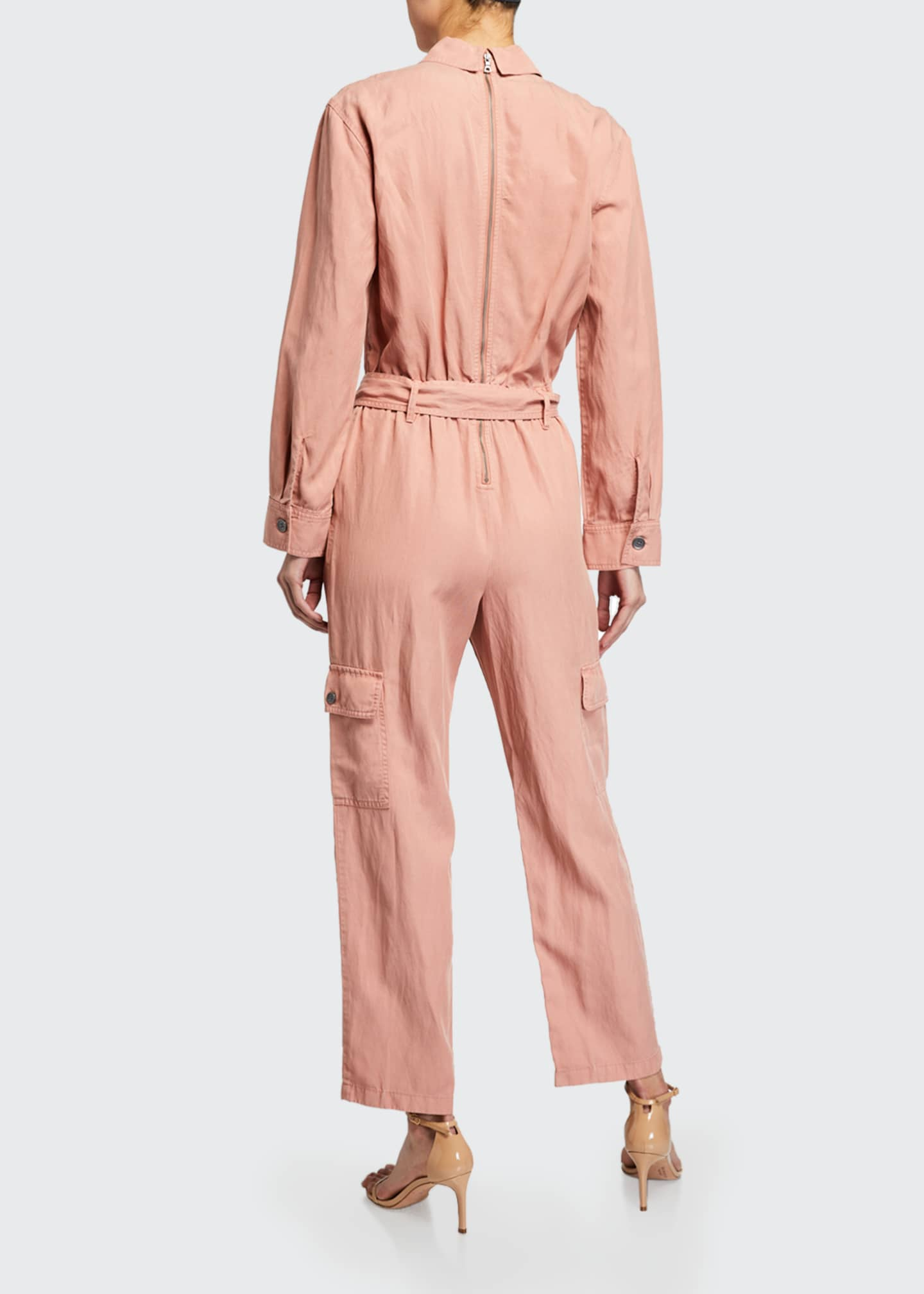 Image 2 of 2: Kai Belted Cargo Jumpsuit