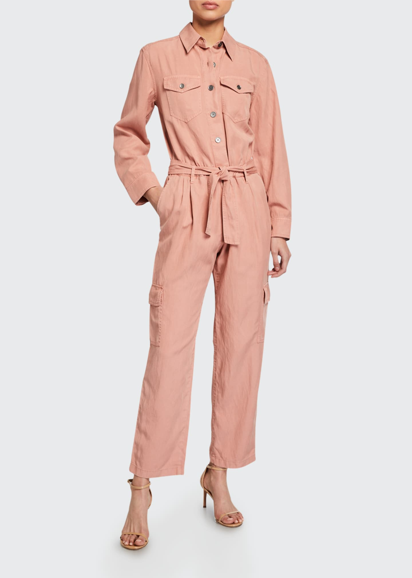 Image 1 of 2: Kai Belted Cargo Jumpsuit