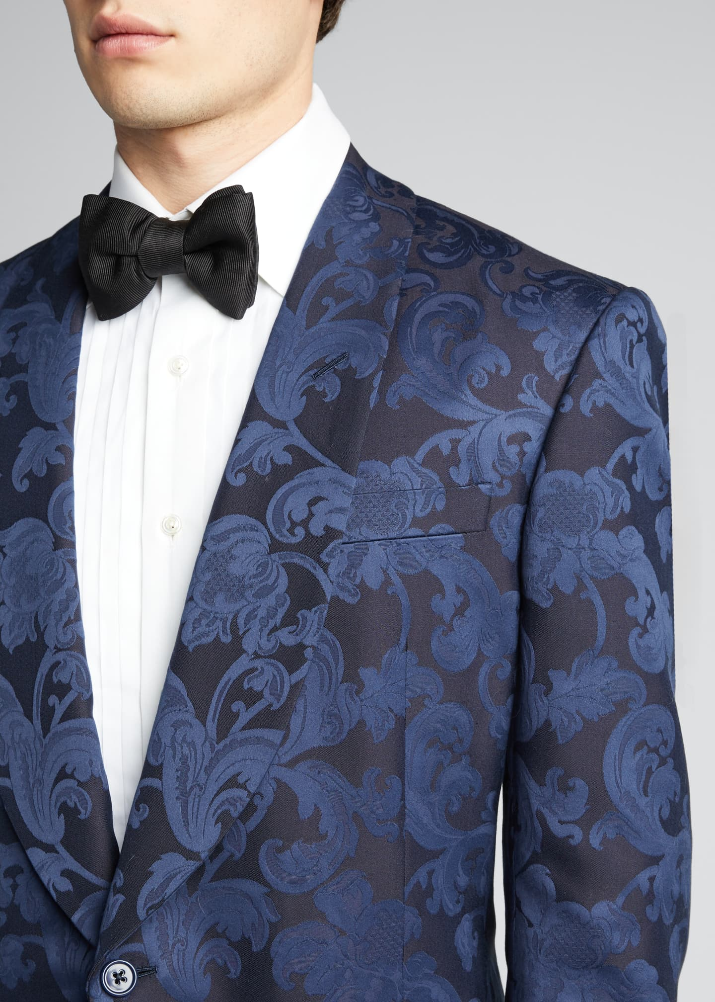 Image 4 of 5: Men's Silk Jacquard Dinner Jacket