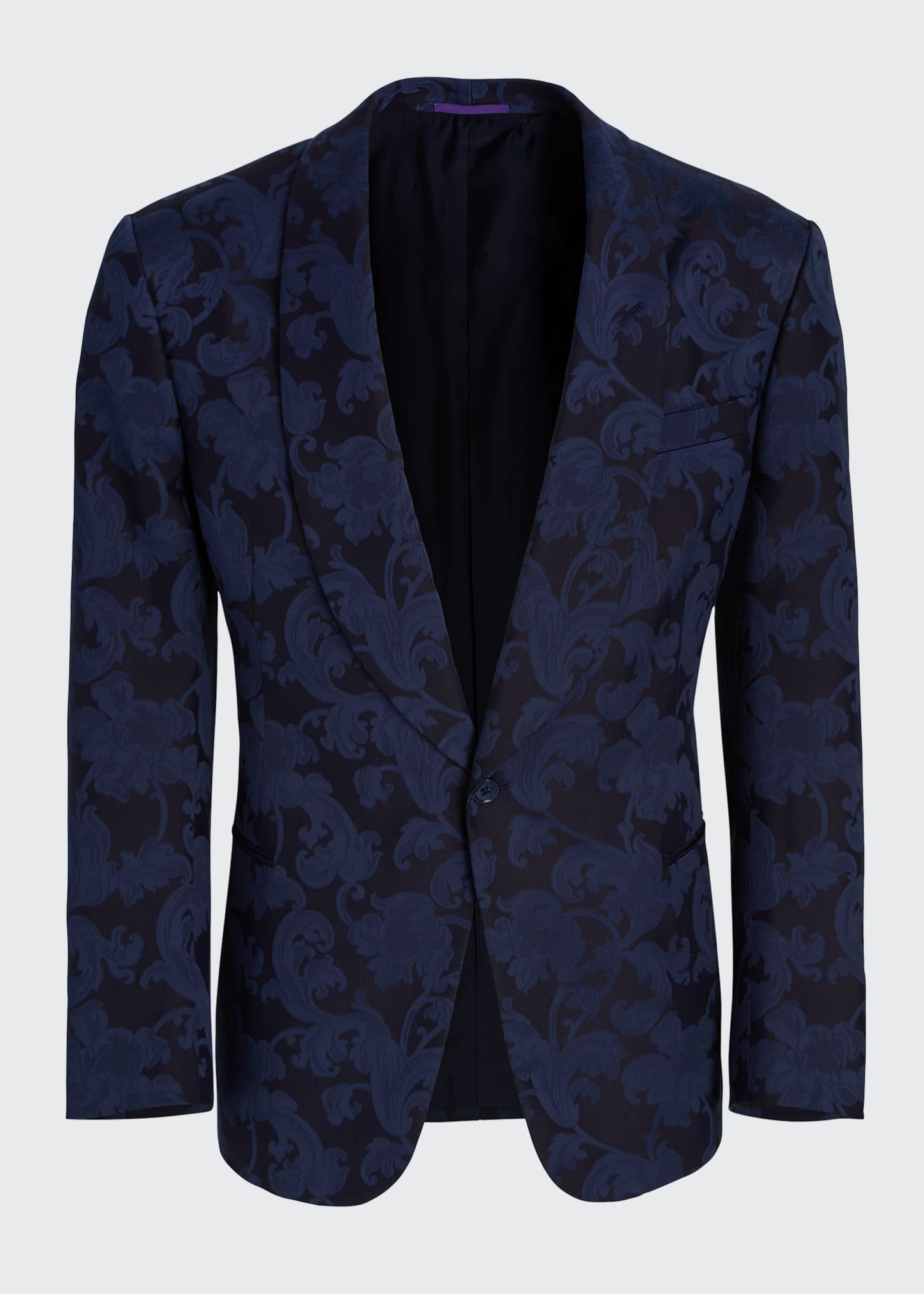 Image 5 of 5: Men's Silk Jacquard Dinner Jacket
